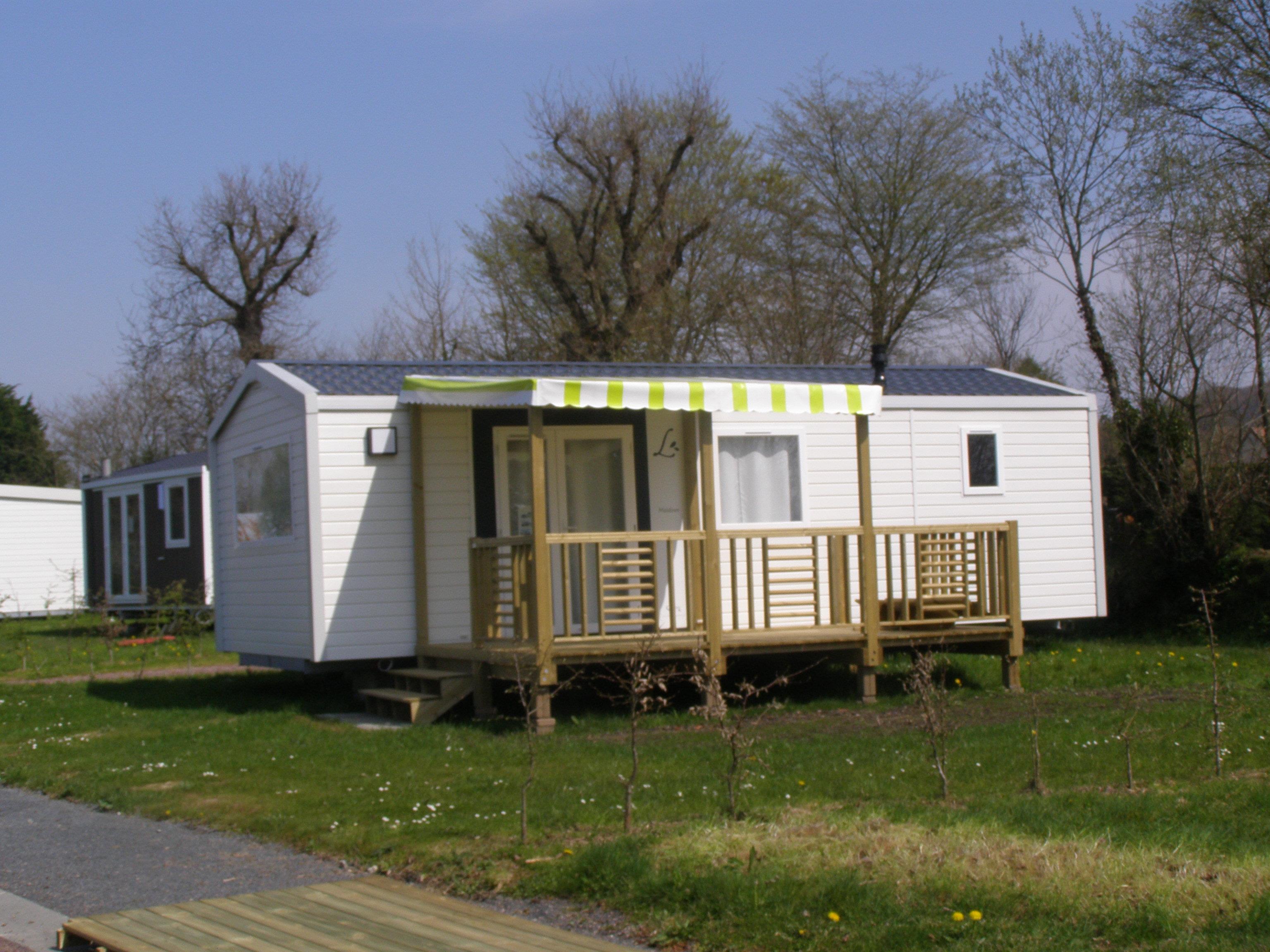 Location - Mobil Home Au Calme 32M² - 2 Chambres - - Camping L'Étang des Haizes