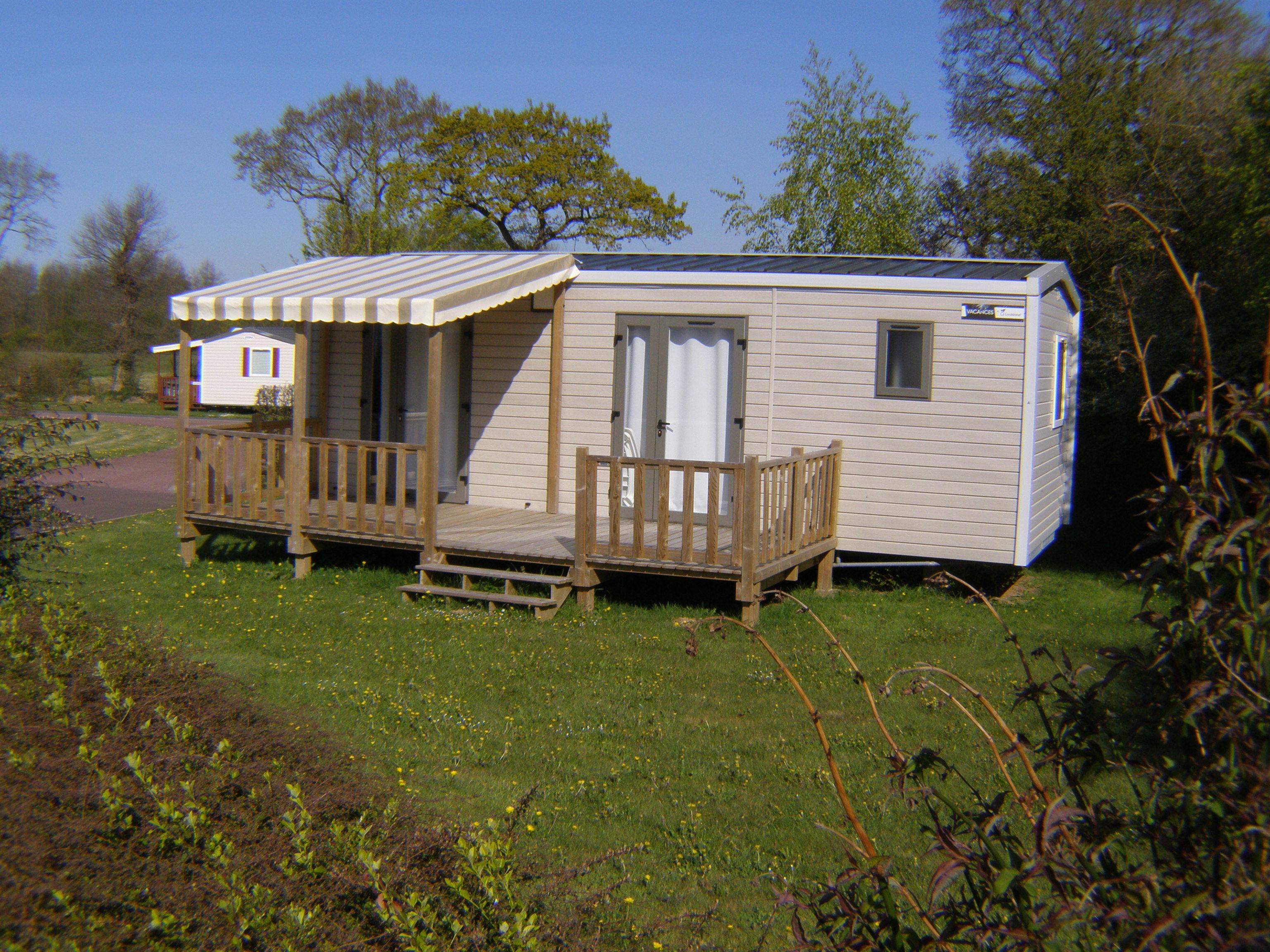 Location - Mobil Home Au Calme - 2 Chambres - - Camping L'Étang des Haizes