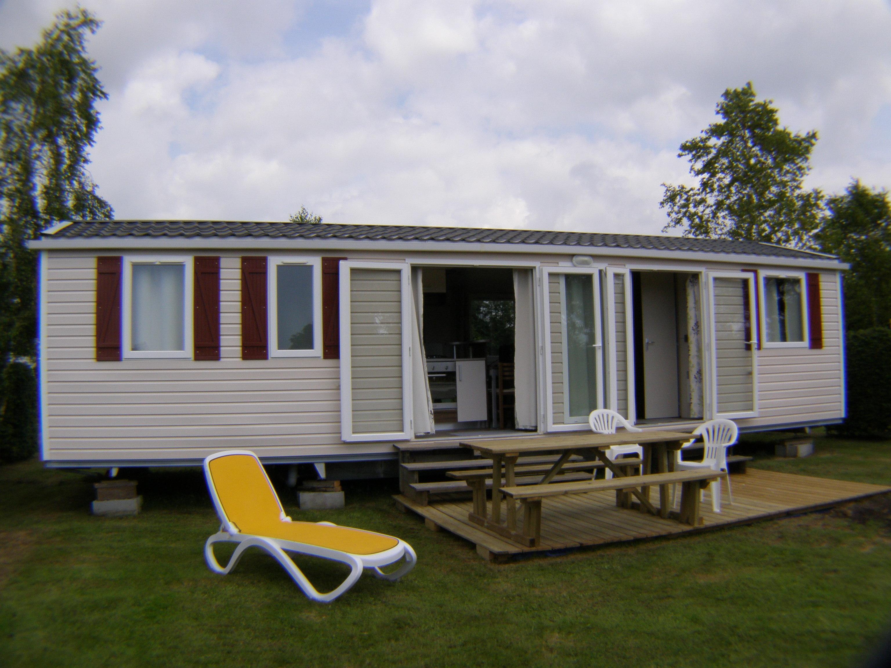 Location - Mobil-Home Au Calme 32M² - 3 Chambres - Camping L'Étang des Haizes