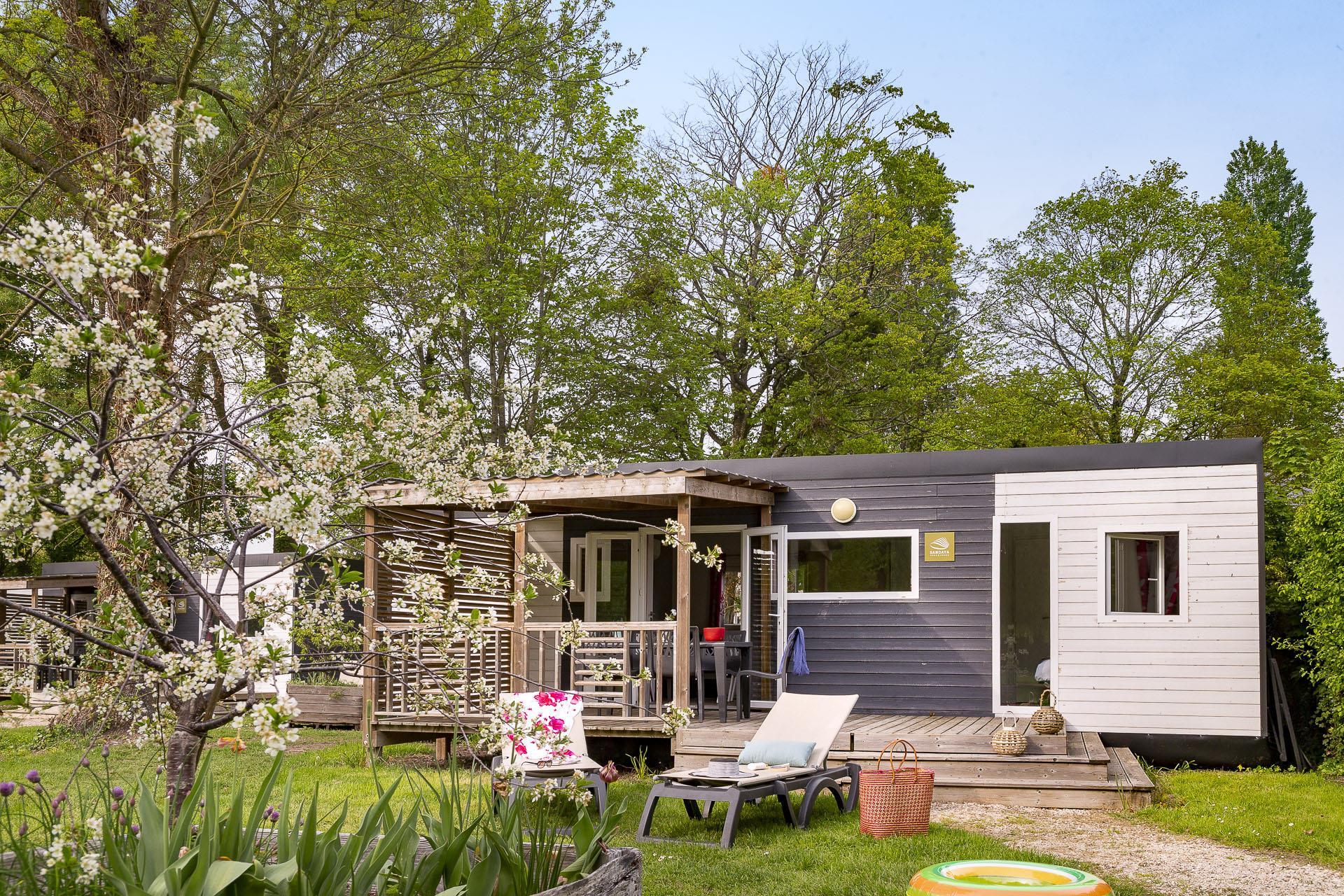 Location - Cottage Newton 2 Chambres 2 Salles De Bain - Clim Premium - Camping Sandaya Le Château des Marais