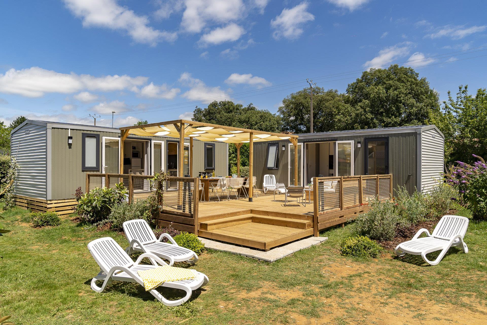 Location - Cottage Friends 5 Chambres **** - Camping Sandaya Le Château des Marais