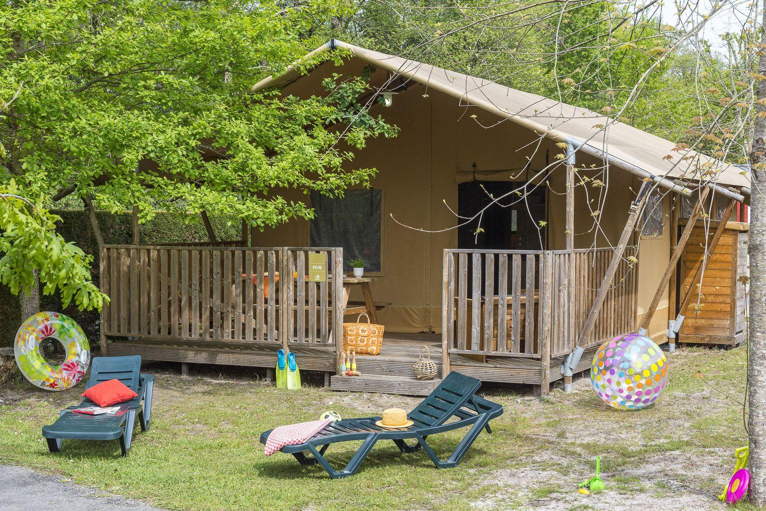 Location - Lodge Safari 2 Chambres **** - Camping Sandaya Le Château des Marais