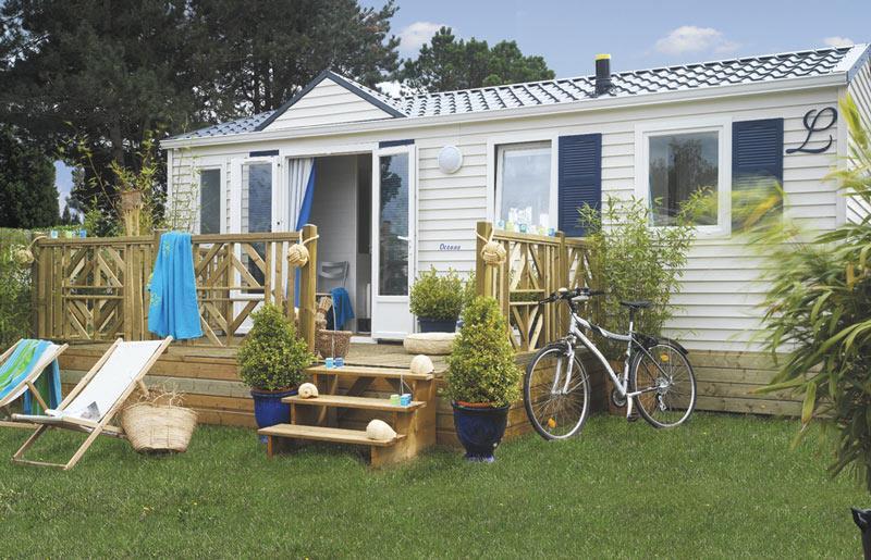 Location - Mobil-Home Oceane - 2 Chambres - Camping de la Piscine
