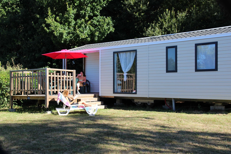 Location - Mobil-Home Malaga Trio 3 Ch, 6 Pers. - Camping de la Piscine
