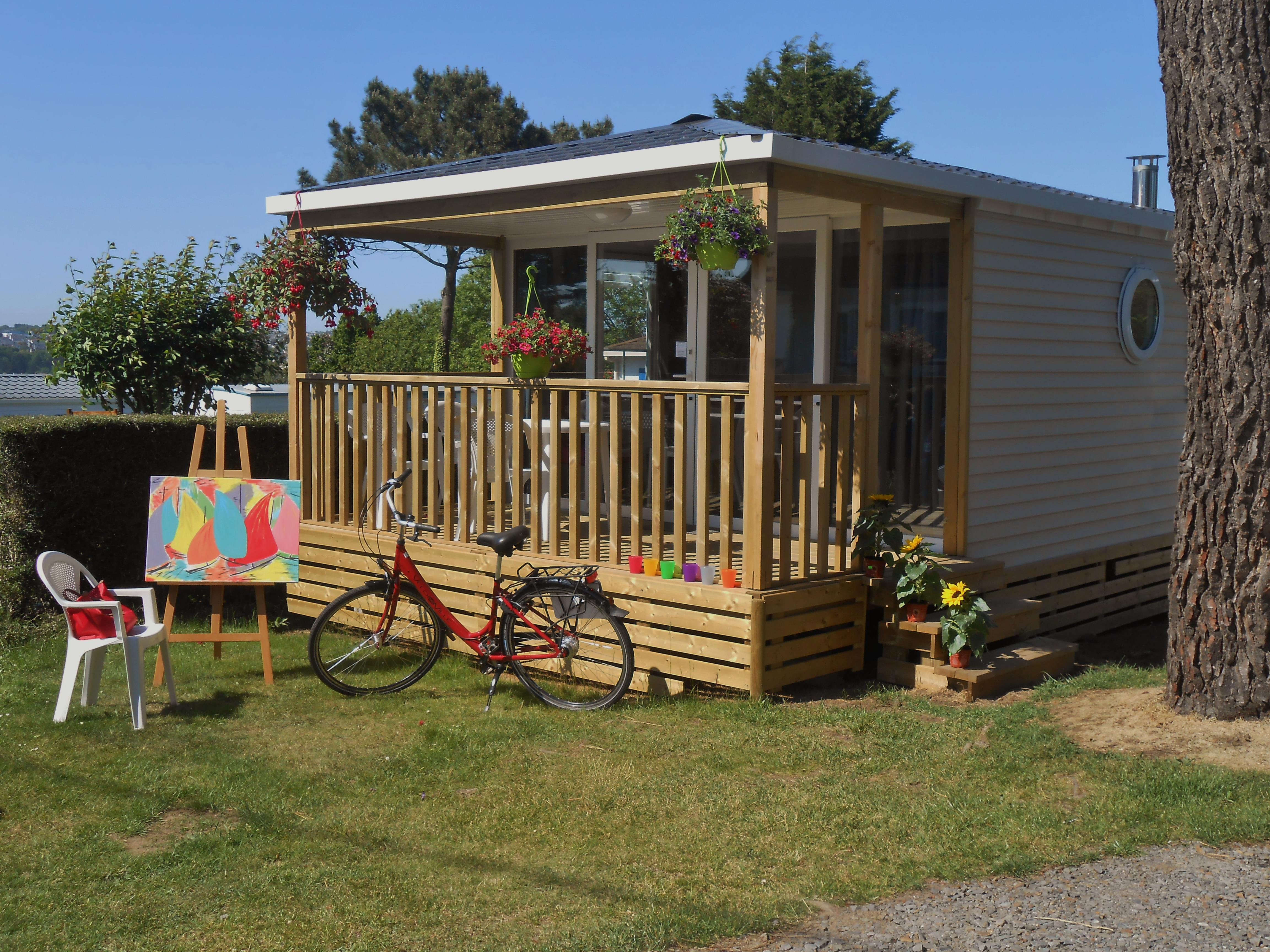 Location - Mobile Home Panorama 25 M² Avec Terrasse Couverte - Camping Le Panoramic