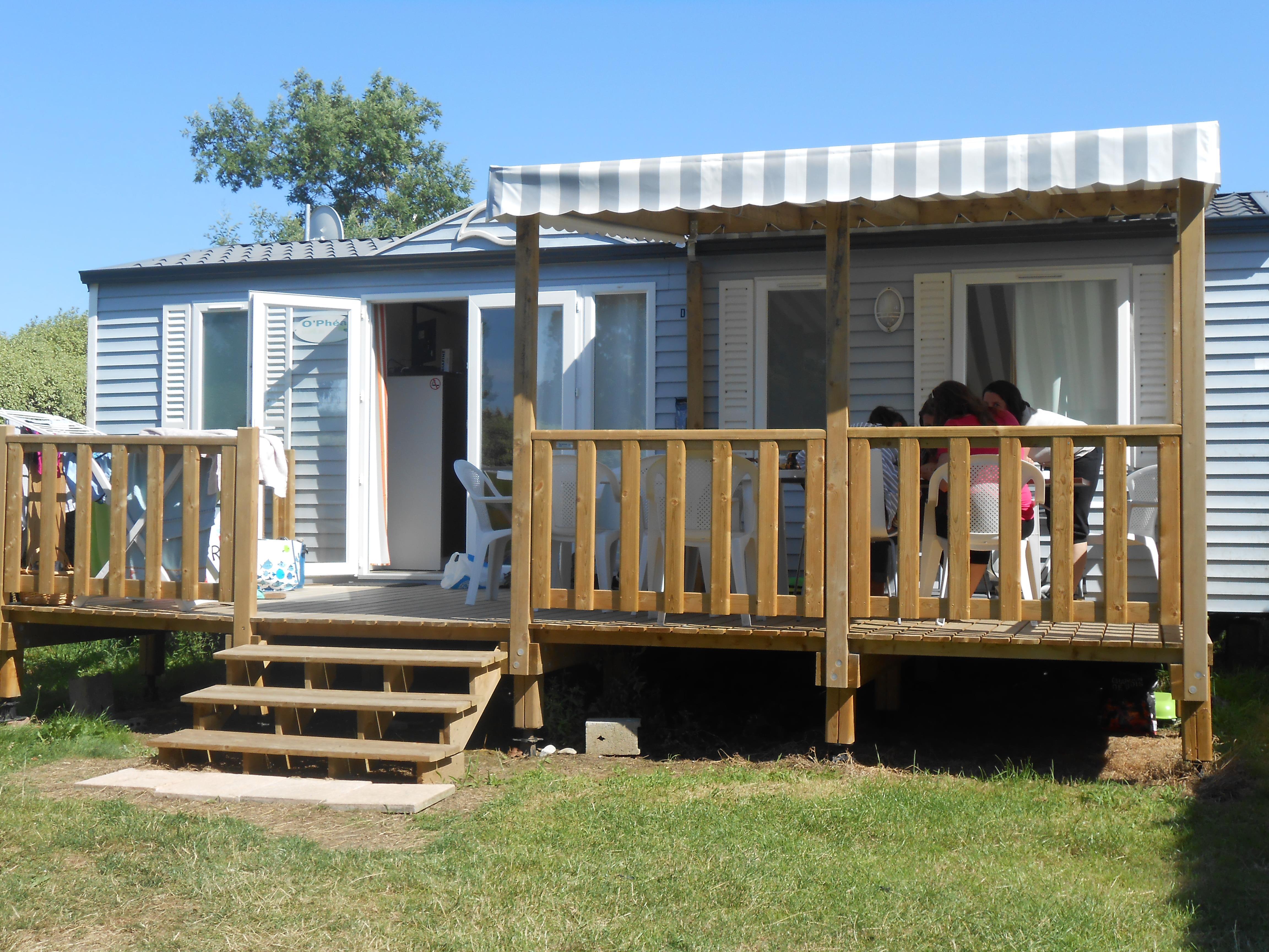 Location - Mobile Home Super Family 36M² Avec Terrasse Semi Couverte - Camping Le Panoramic