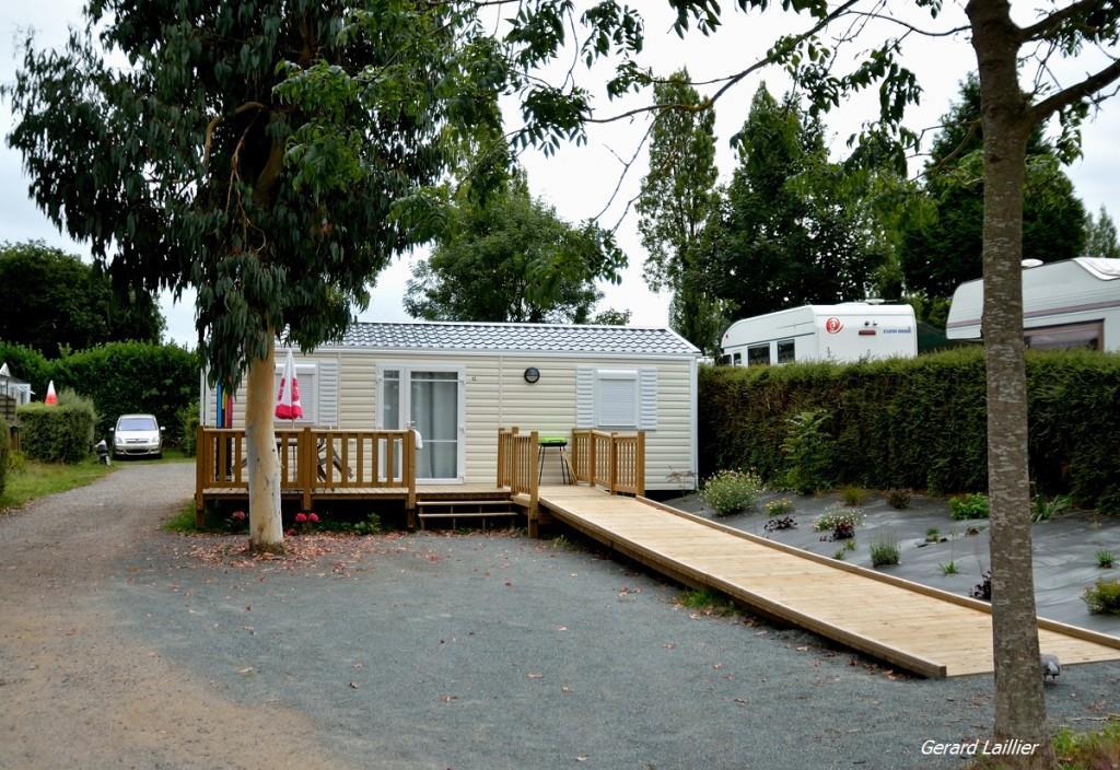 Location - Mobile Home Pmr Ibiza 31 M² Avec Terrasse Bois Non Couverte - Camping Le Panoramic