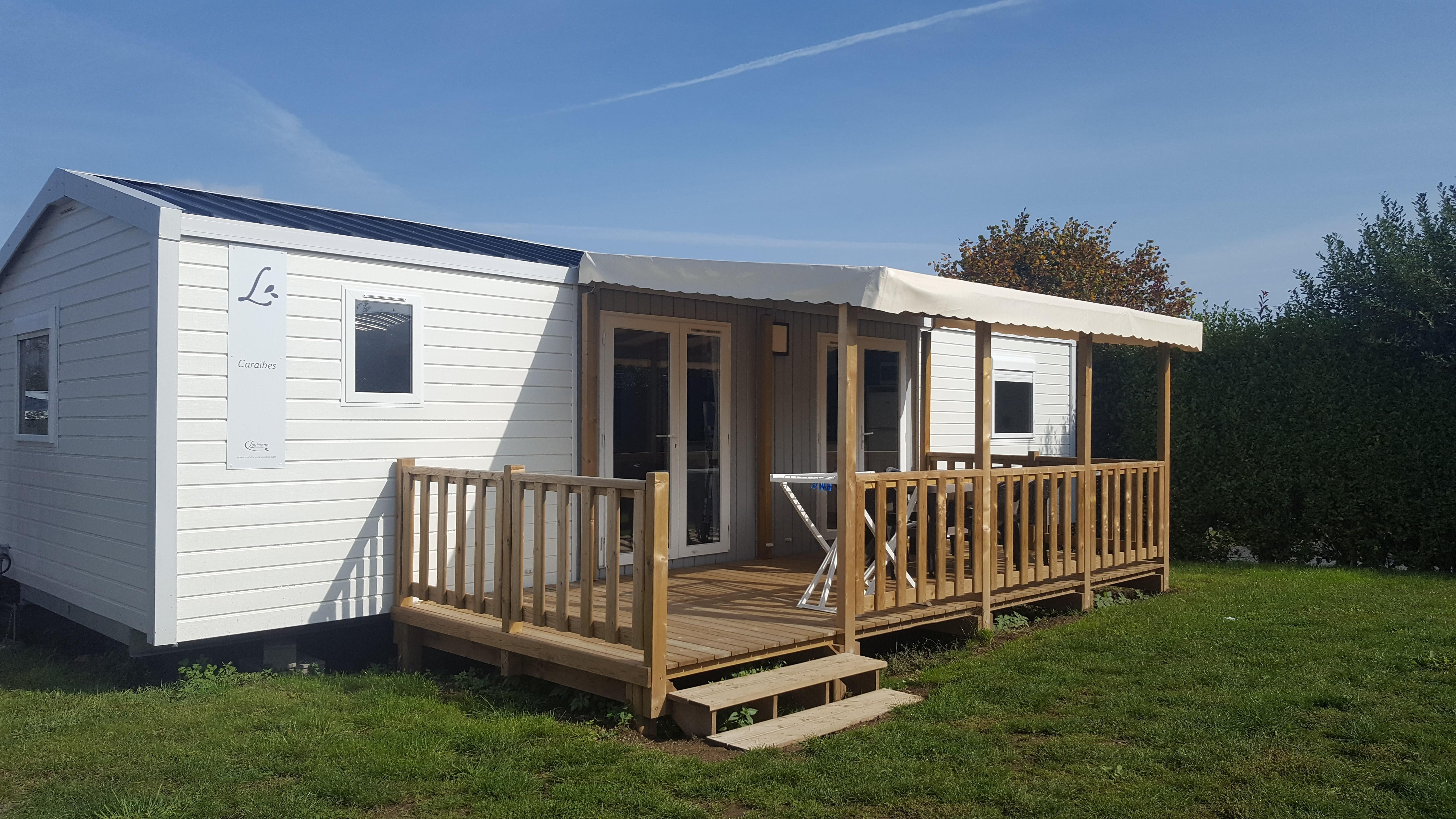 Location - Mobile Home Caraibes 40M² Avec Terrasse Semi Couverte - Camping Le Panoramic