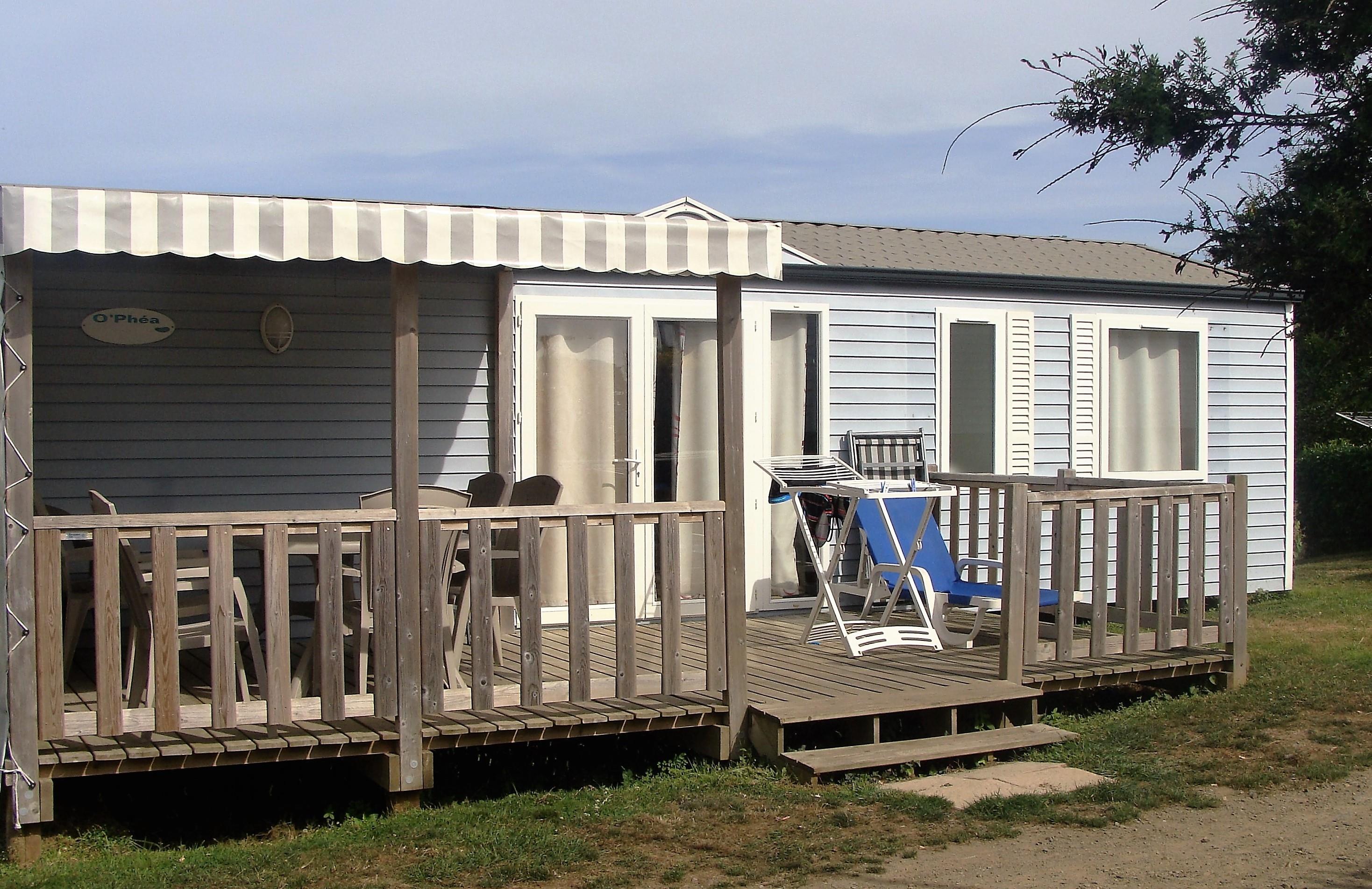 Location - Mobile Home Super Family 2 36M² Avec Terrasse Bois Semi Couverte - Camping Le Panoramic