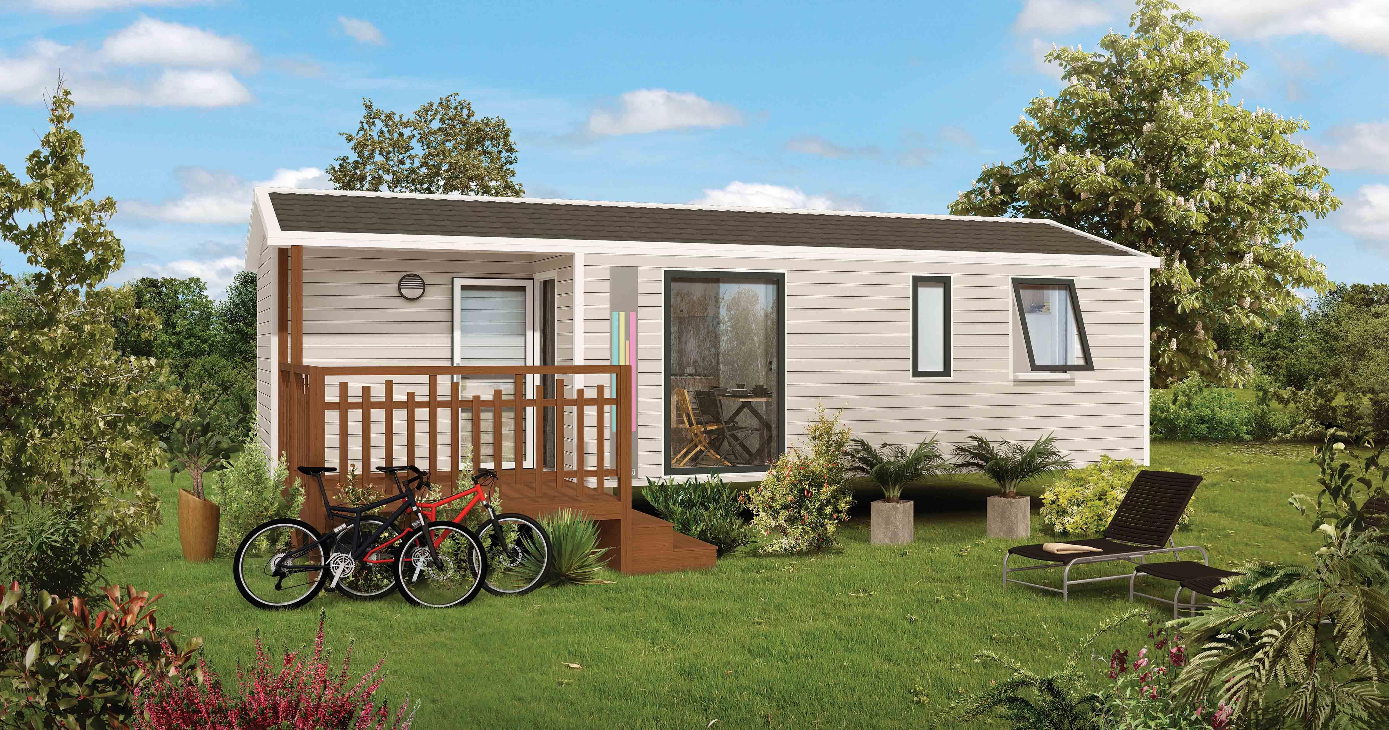 Location - Nouveaute 2019 Mobil-Home Malaga 30M² Avec Terrasse Intégrée - Camping Le Panoramic