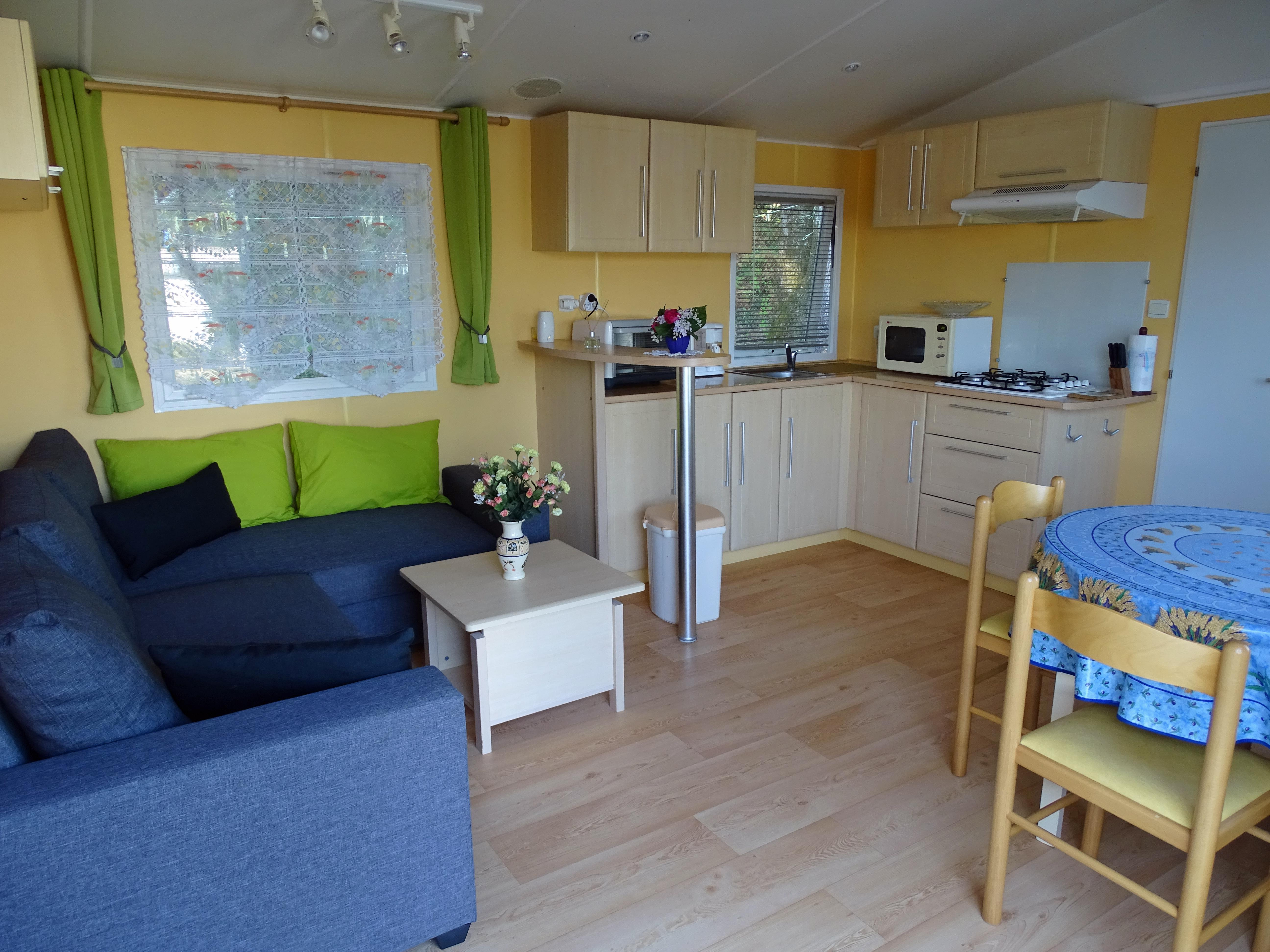 Location - Mobilhome Super Galaxie  - 2 Chambres - Camping Le Logis du Breuil