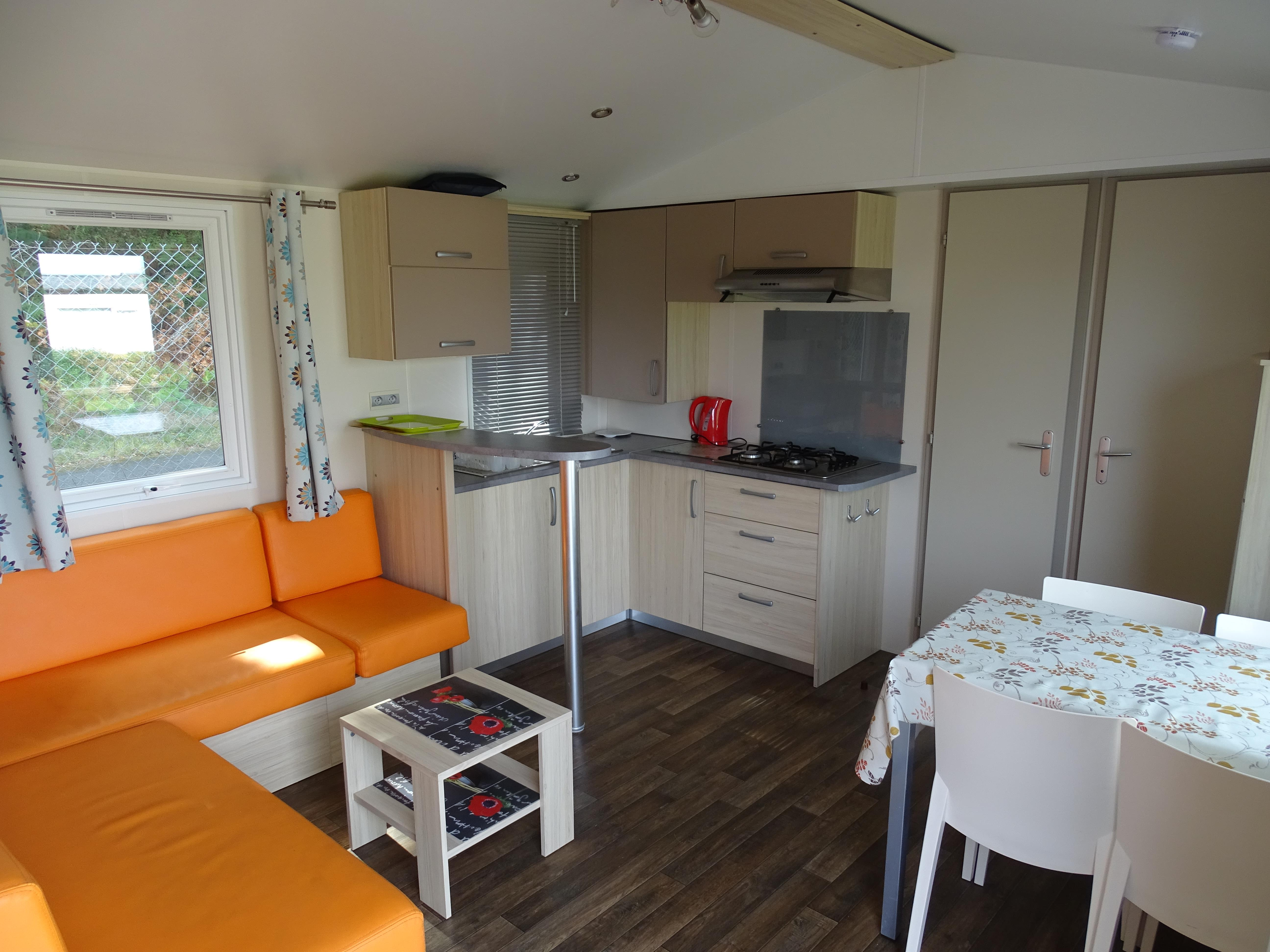 Location - Mobilhome Super Titania Confort - 2 Chambres - - Camping Le Logis du Breuil