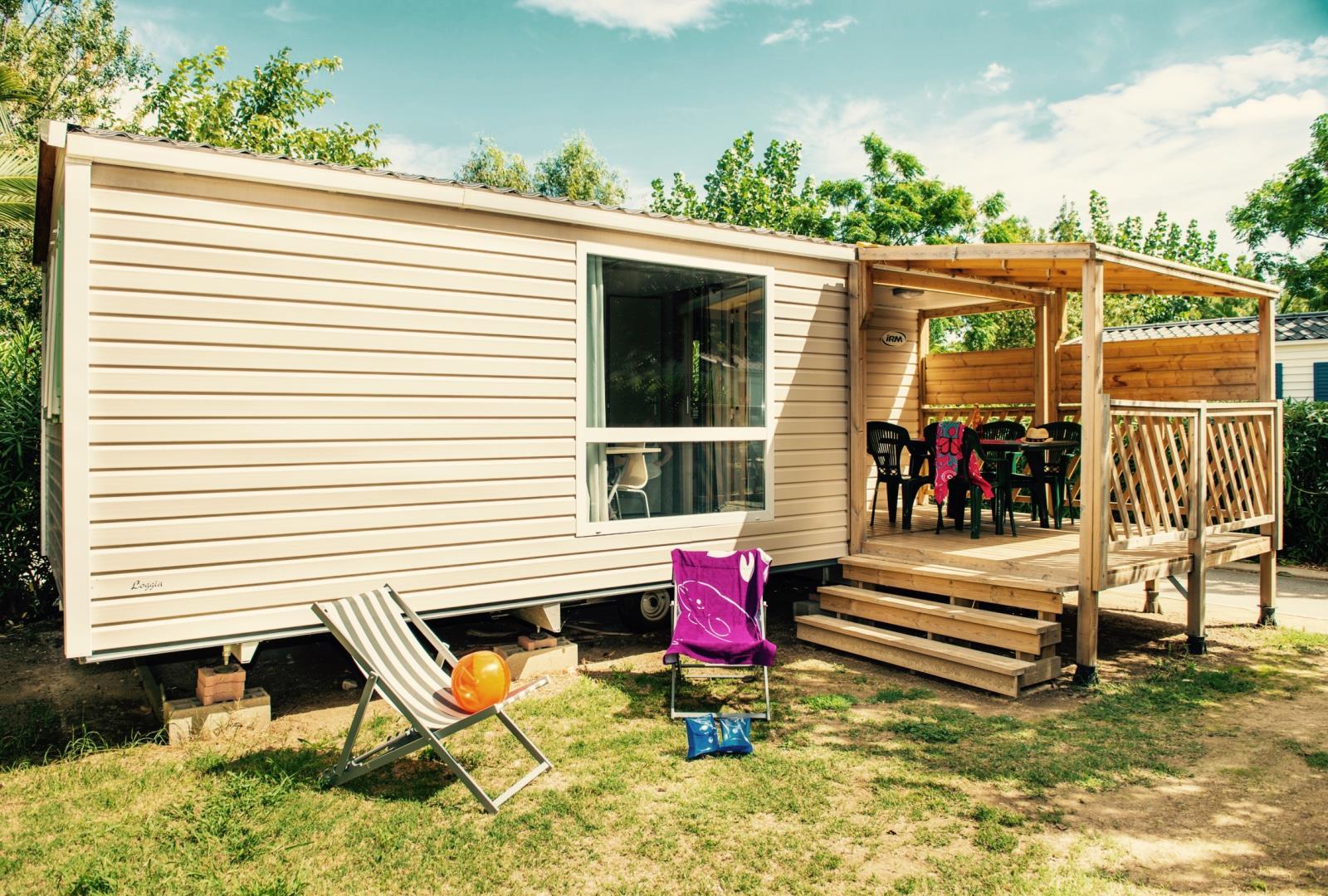 Location - Cottage Méditerranée Grand Confort / D - Camping Le Littoral