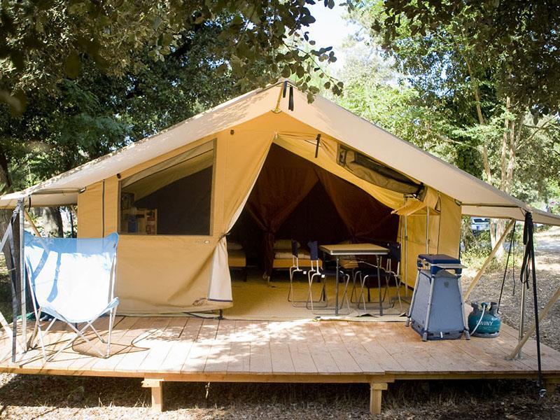 Location - Tente Toile & Bois Classic Iv - Huttopia Gorges du Verdon