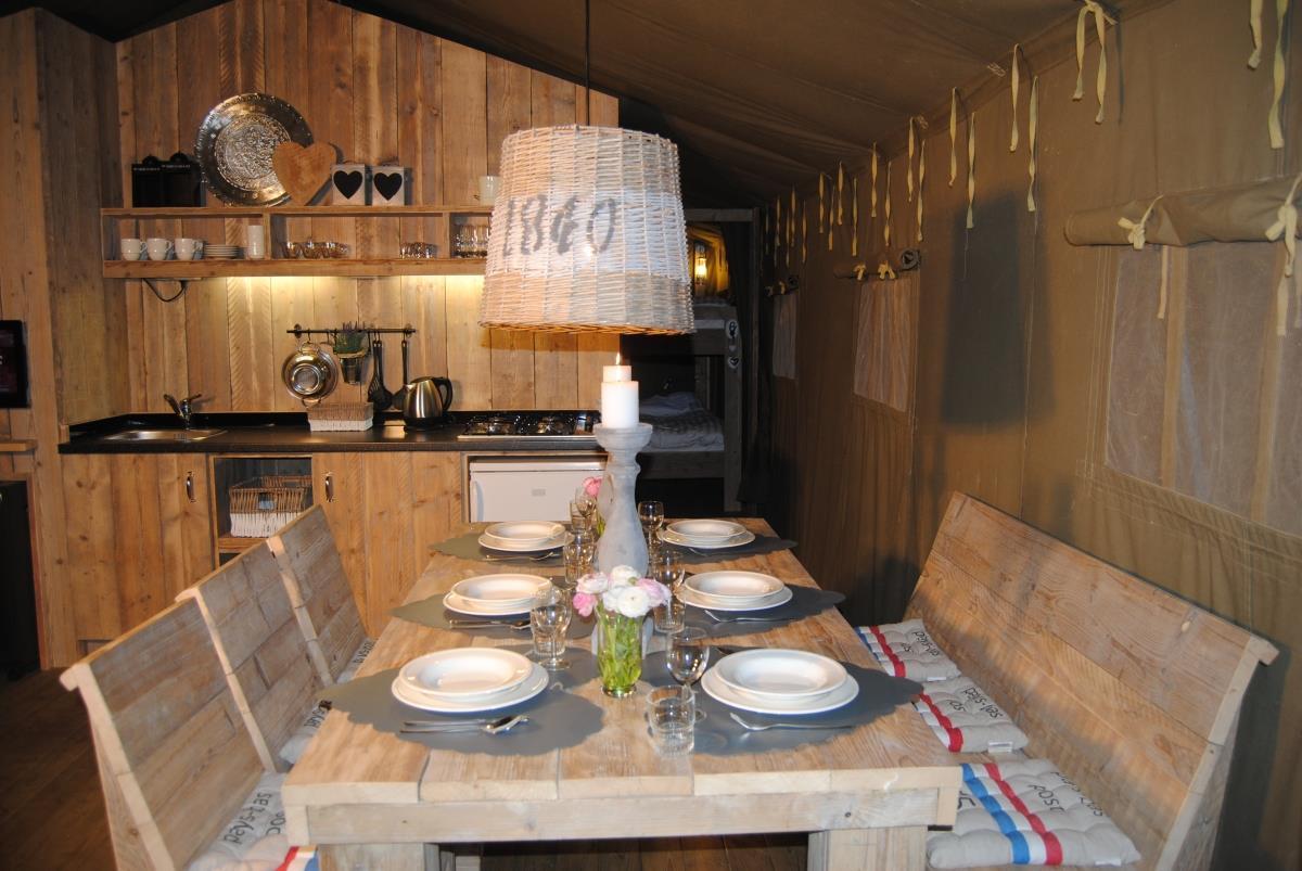 Location - Tente Ciela Nature Lodge - 40M² - 2 Chambres - Salle De Bain - Camping Terra Verdon-Ciela Village