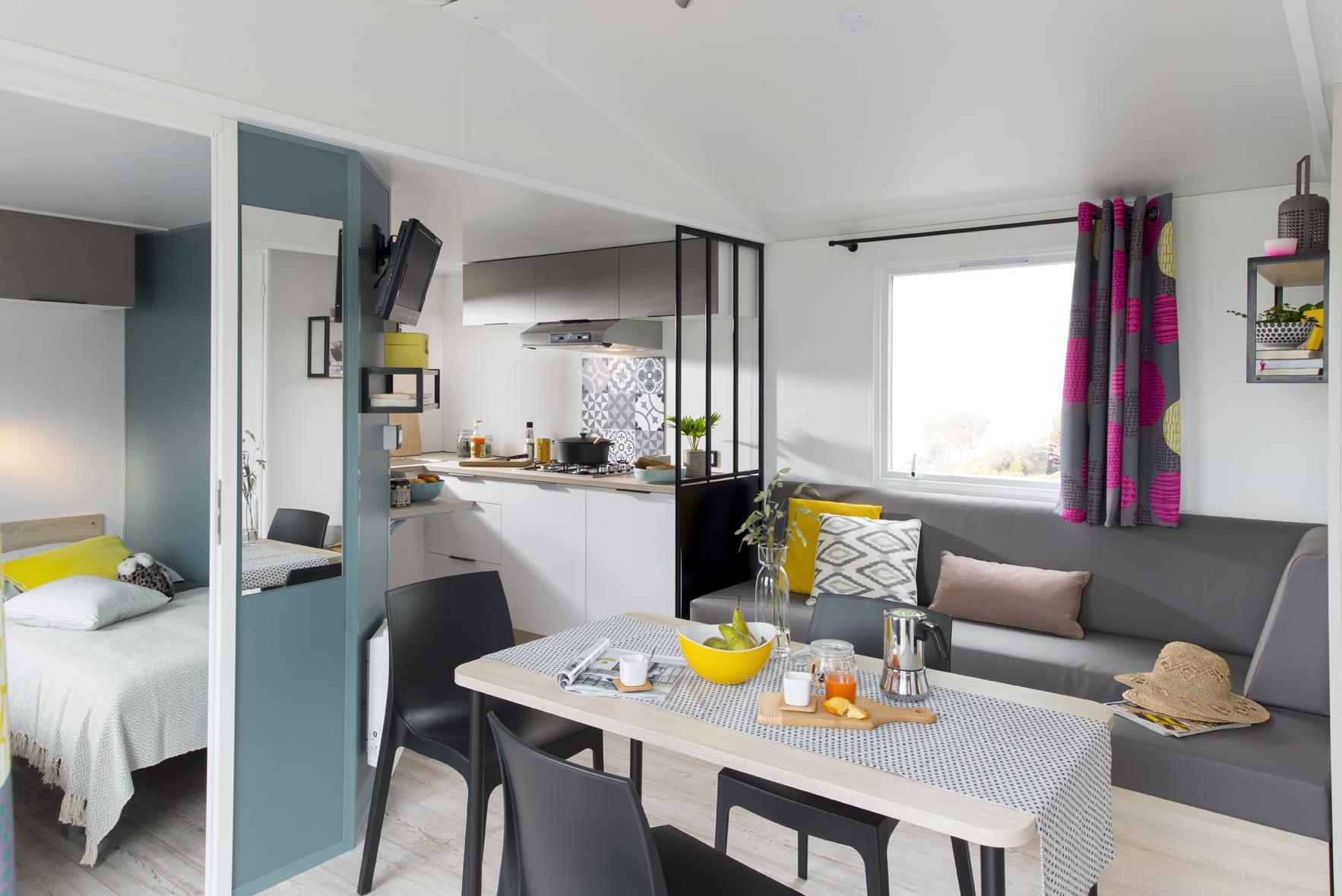 Location - Mobil Home Ciela Confort - 30M² - 2 Chambres  -  Climatisation - Tv - Camping Terra Verdon-Ciela Village
