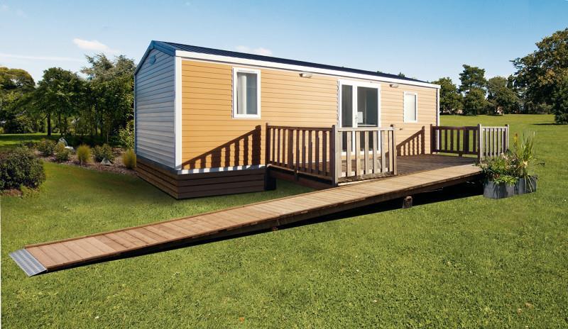 Location - Mobil Home Ciela Confort Pmr (Adapté Pour Personnes À Mobilité Réduite) - 31M² - 2 Chambres - Climatisation - Tv - Camping Terra Verdon-Ciela Village
