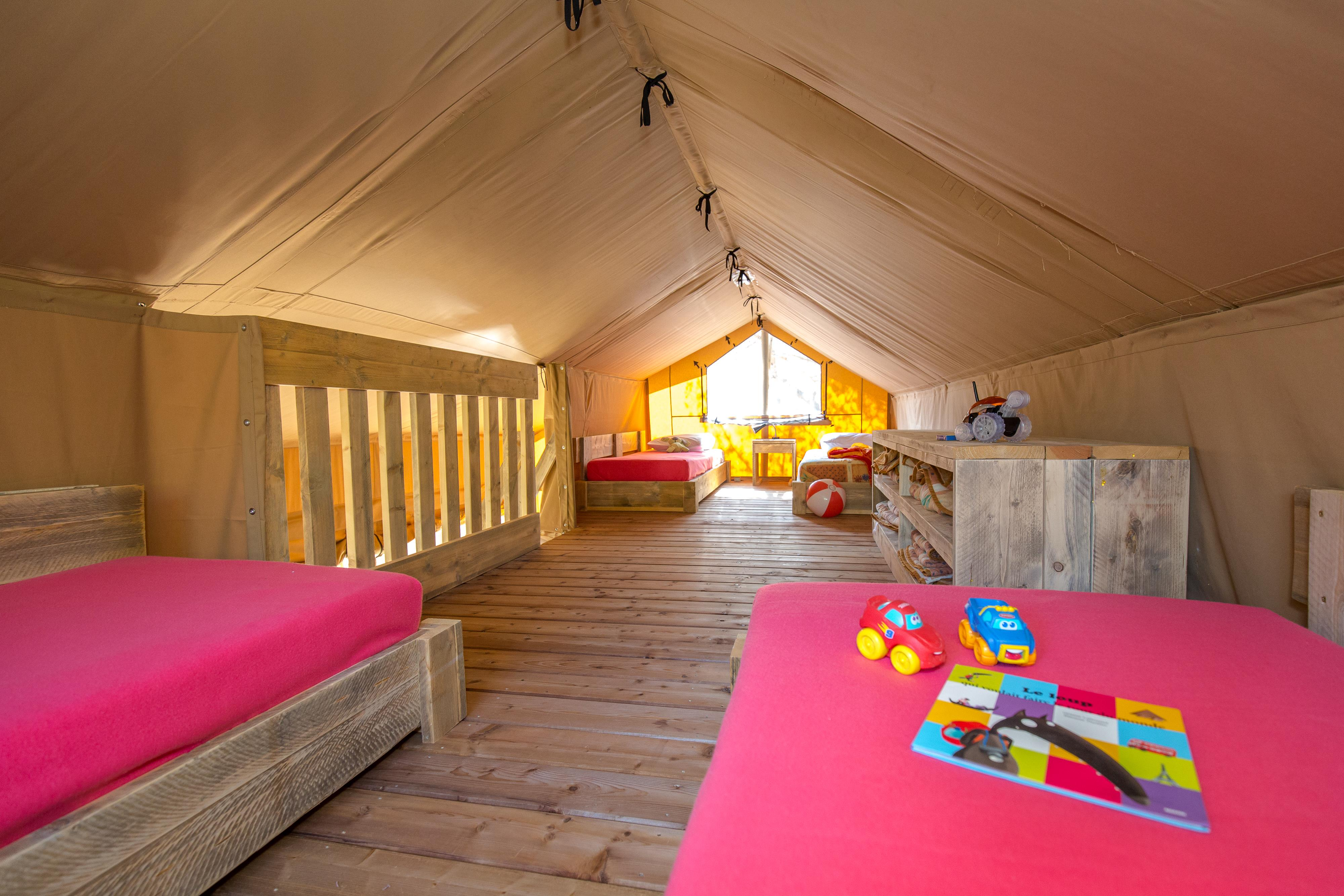 Location - Tente Ciela Nature Lodge - 80M² - 3 Chambres - 1 Salle De Bain - Camping Terra Verdon-Ciela Village
