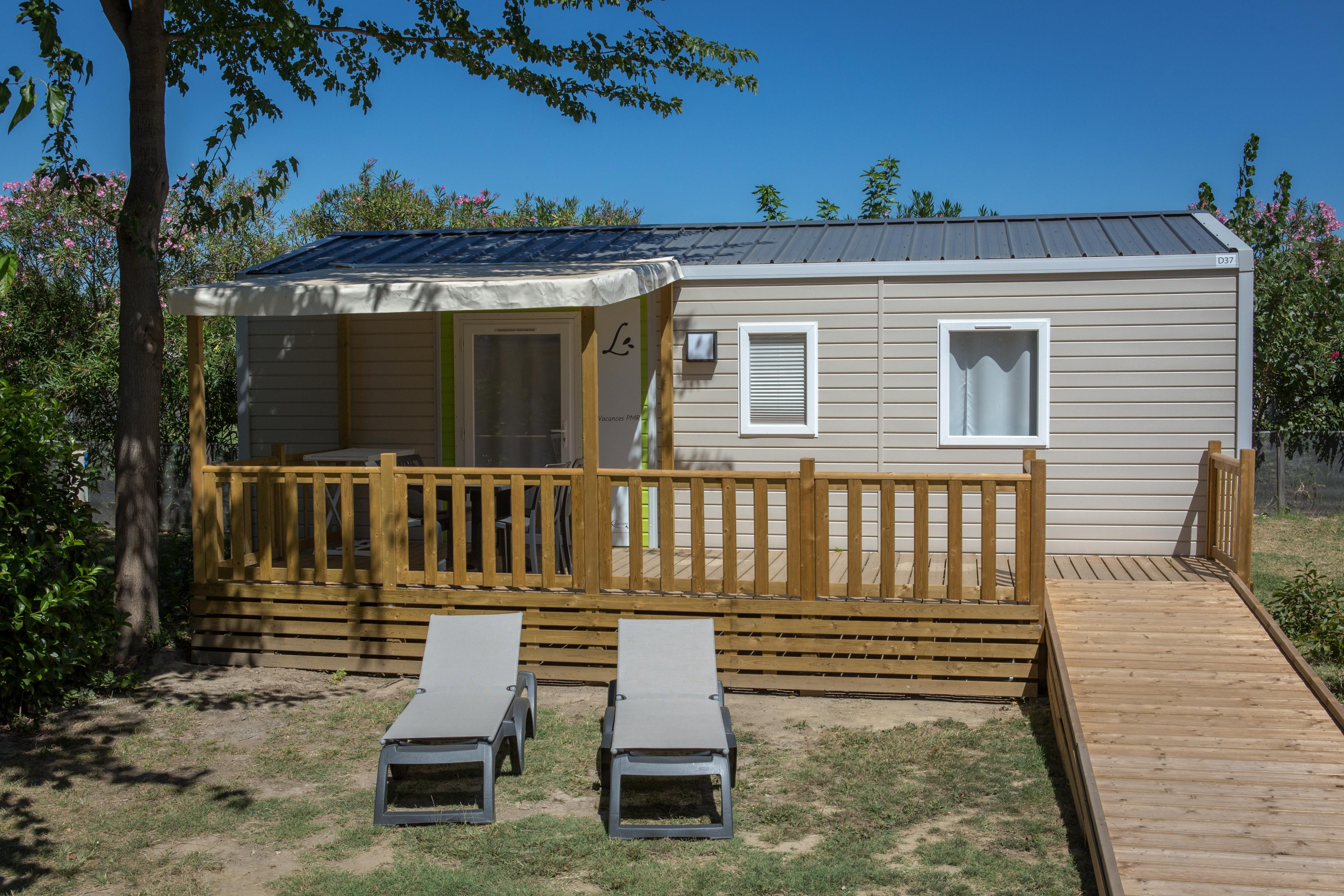 Location - Mobil Home Ciela Pmr - 35M² - 2 Chambres - Climatisation - Tv - Camping Les Marsouins