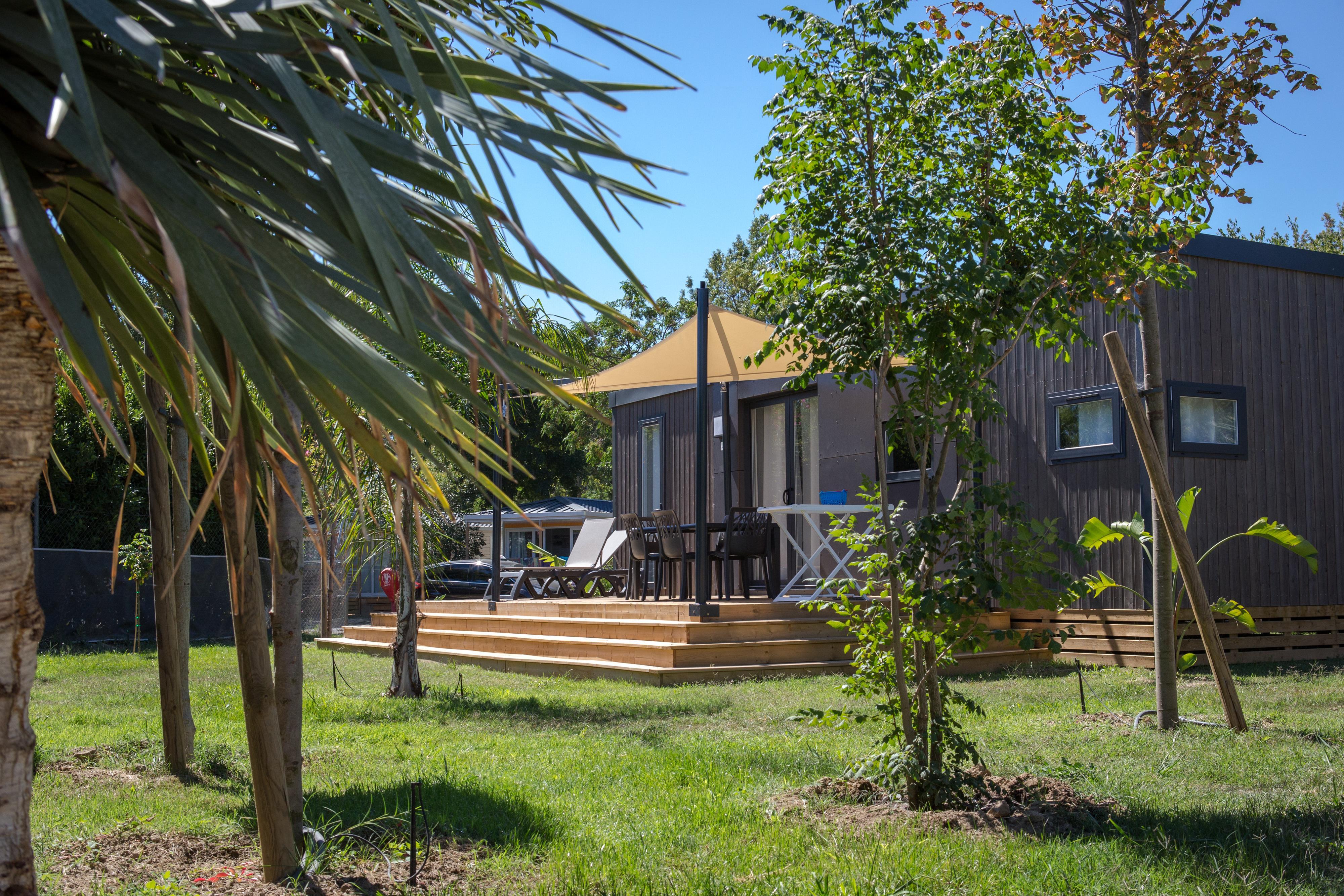 Location - Mobil Home Ciela Prestige - 38M² - 1 Suite Parentale- 2 Chambres - 2 Salles De Bain- Climatisation - Tv - Lave Vaisselle - Draps Inclus - Camping Les Marsouins