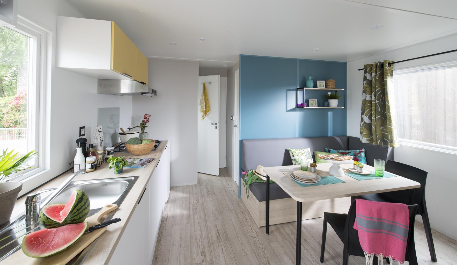 Location - Mobil Home Ciela Family - 25M² - 2 Chambres 4+1 (Enfant) - Camping Les Marsouins