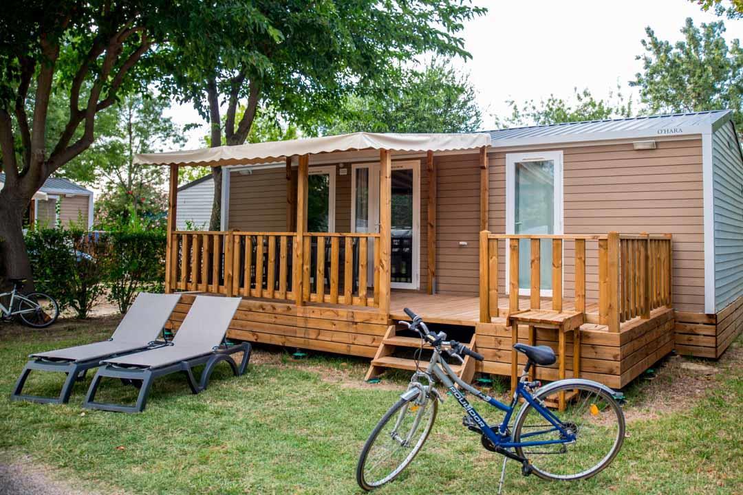 Location - Mobil Home Ciela Confort Luxe - 33M² - 2 Chambres - 2 Salles De Bain - Climatisation - Tv - Lave Vaisselle - Camping Les Marsouins