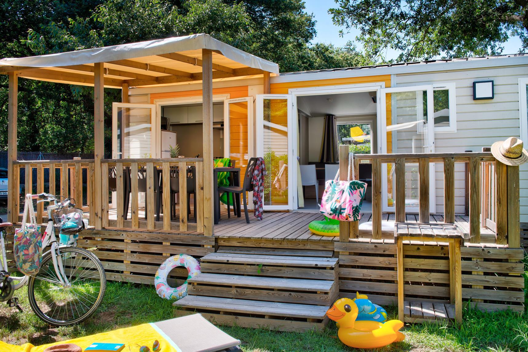 Location - Mobil Home Ciela Confort - 35M² - 3 Chambres - Climatisation - Tv - Camping Les Marsouins
