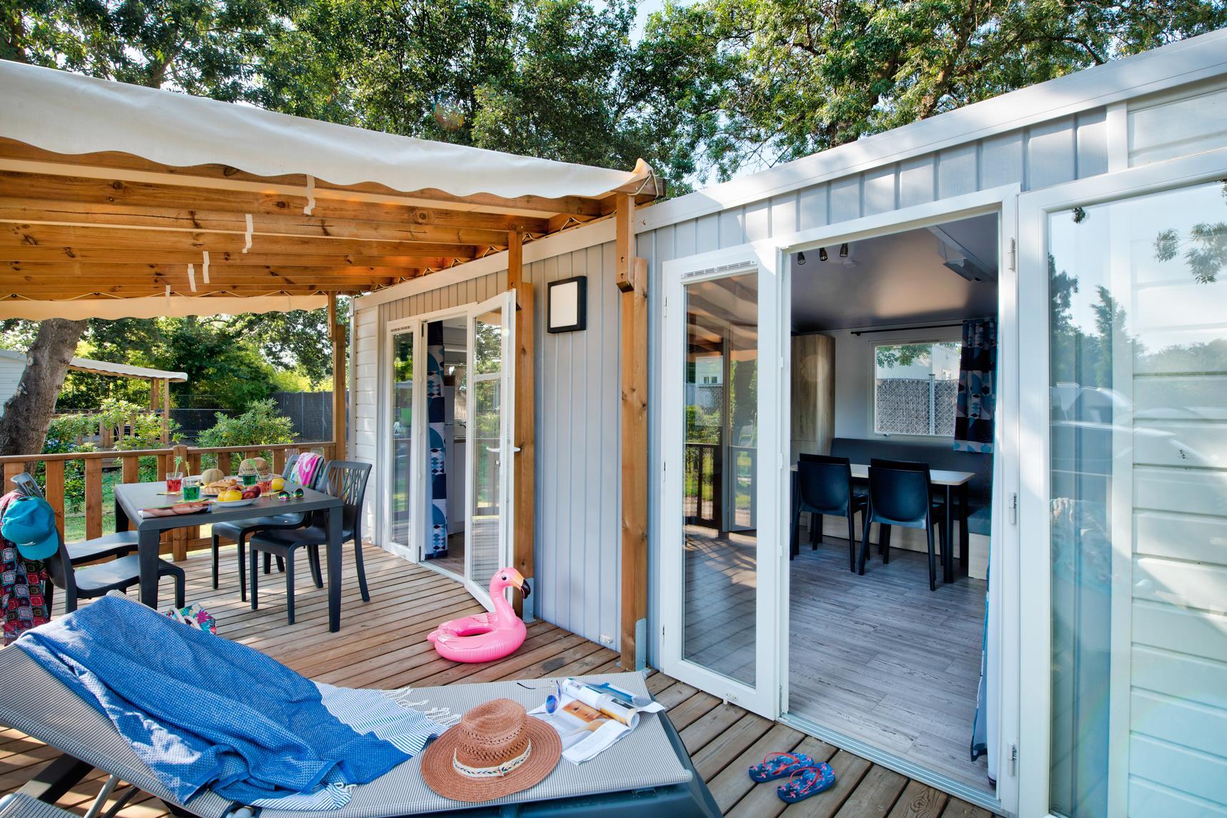 Location - Mobil Home Ciela Confort - 30M² - 2 Chambres - Climatisation - Tv - Camping Les Marsouins