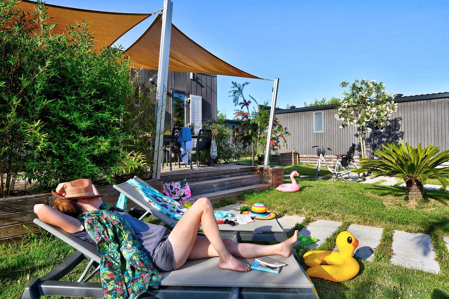 Location - Mobil Home Ciela Prestige - 36M² - 1 Suite Parentale- 1 Chambre- 2 Salles De Bain- Climatisation - Tv - Lave Vaisselle - Draps Inclus - Camping Les Marsouins