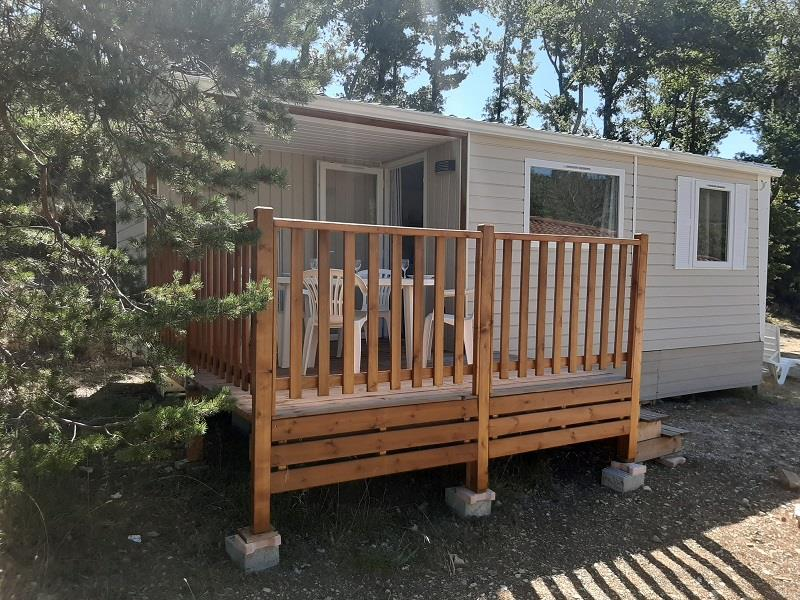 Accommodation - Mobile Home  Ophea 784 31M² (2 Bedrooms) Sheltered Terrace - Camping naturiste Les Lauzons