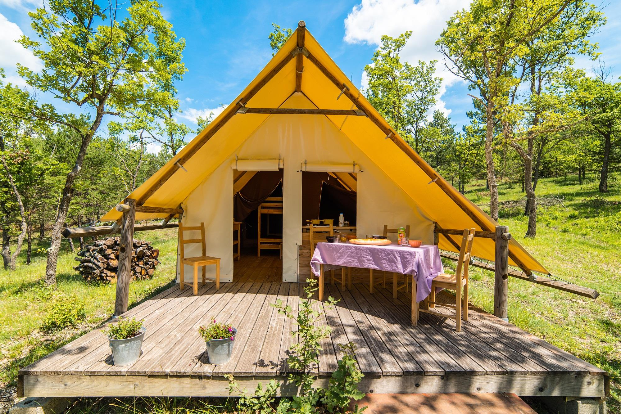 Lodge Tent  20M² (2 Bedrooms) Terrace - Without Toilet Blocks