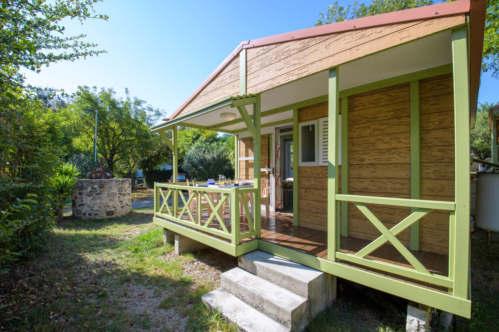 Chalet CLUB B 23m² / 2 chambres - Climatisation / Terrasse couverte