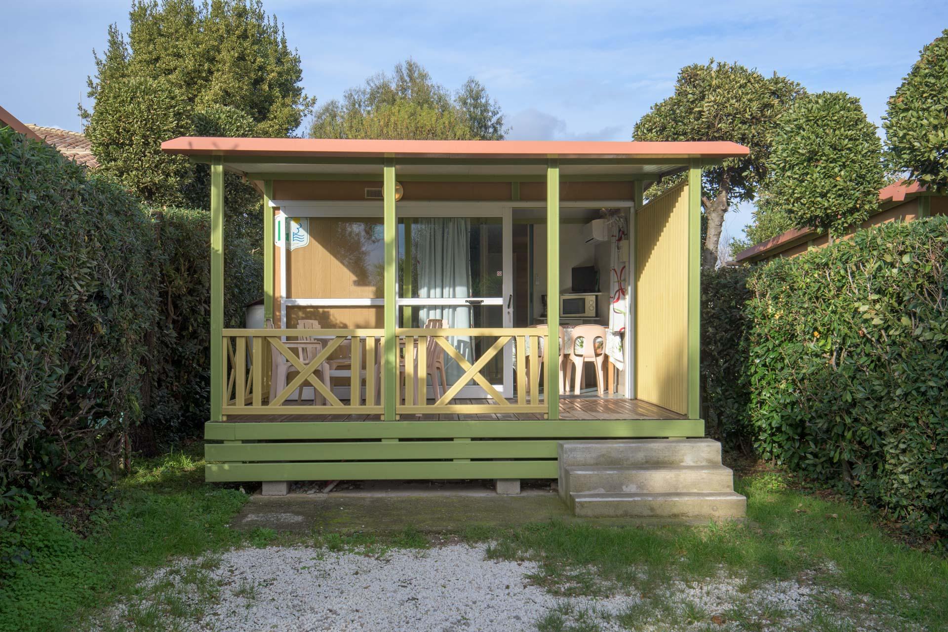Chalet ILO 19 m² / 2 chambres - Climatisation  / Terrasse couverte