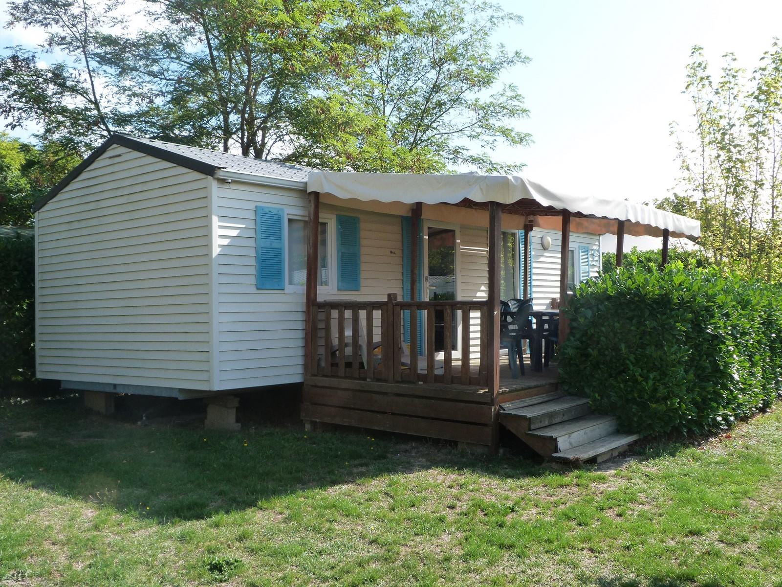 Mobil-Home 3 chambres + terrasse couverte 14m² (2 Modèles sur le camping)