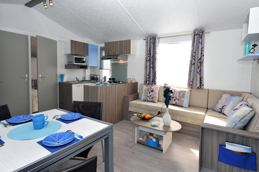 Location - Mobil-Home Collioure - 3 Ch - Climatisé - Tv - Camping Cala Gogo
