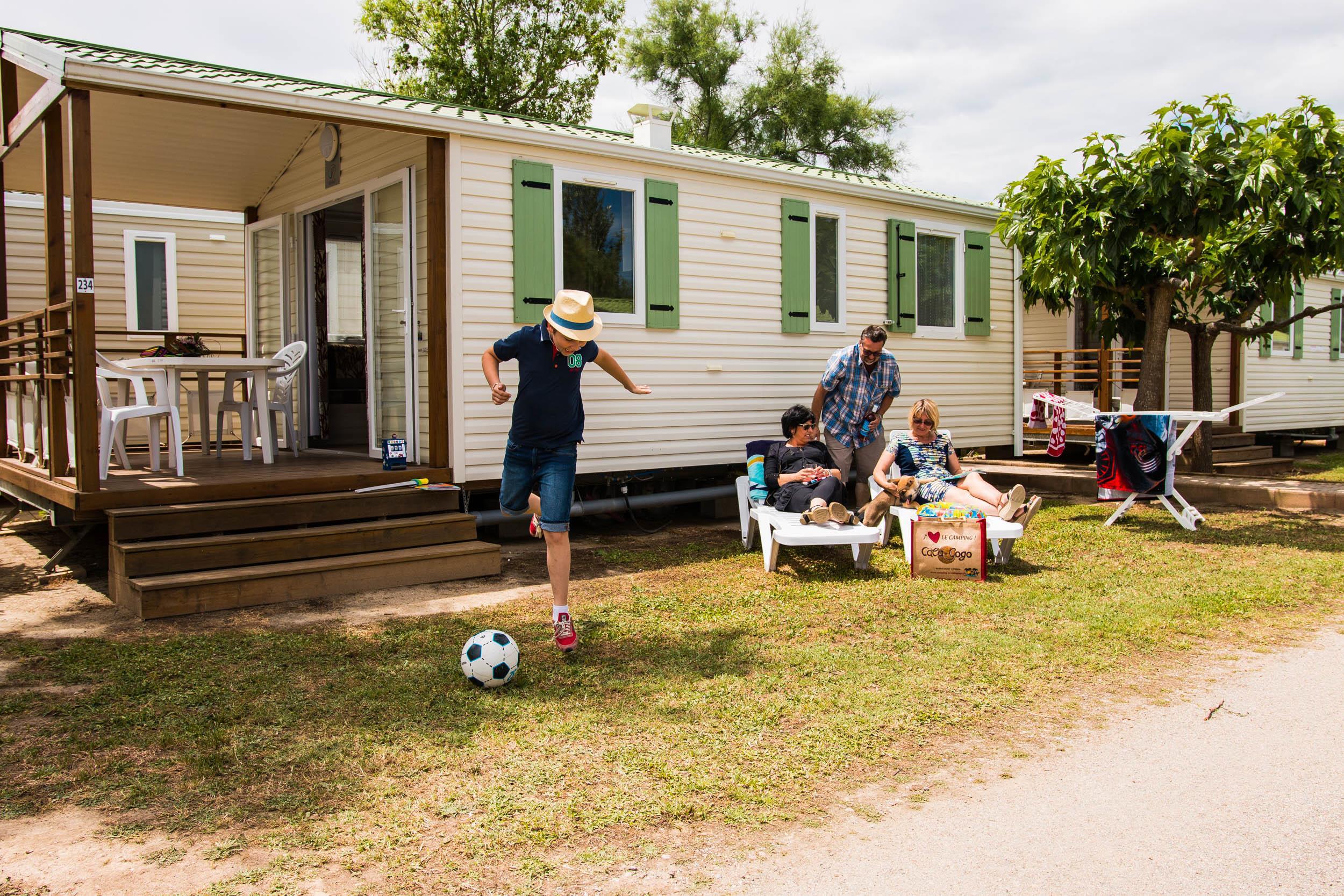 Location - Mobil-Home Caramany - 2 Ch - Climatisé - Tv - Camping Cala Gogo