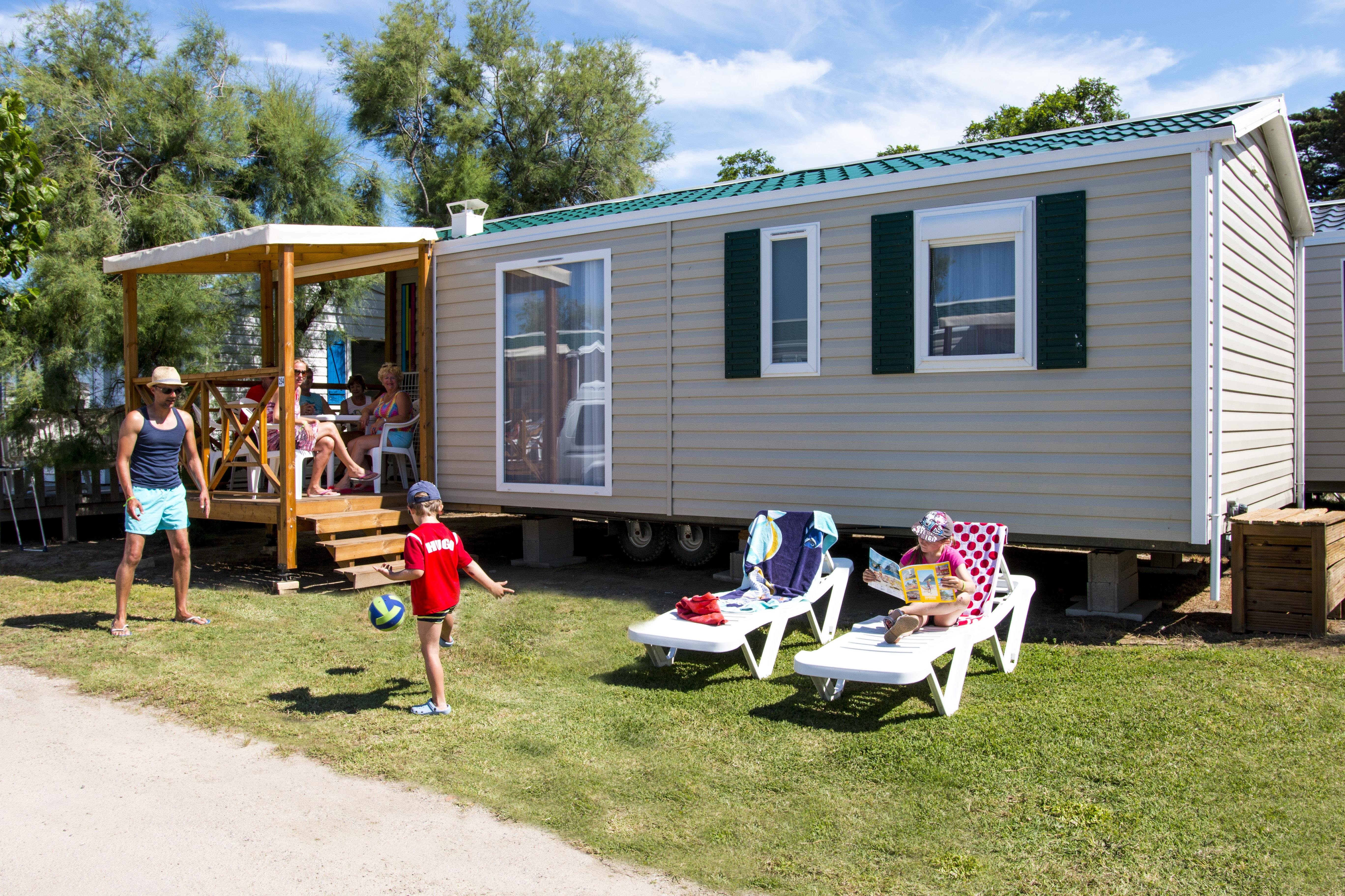 Location - Mobil-Home Tautavel - 3 Ch - Climatisé - Tv - Camping Cala Gogo
