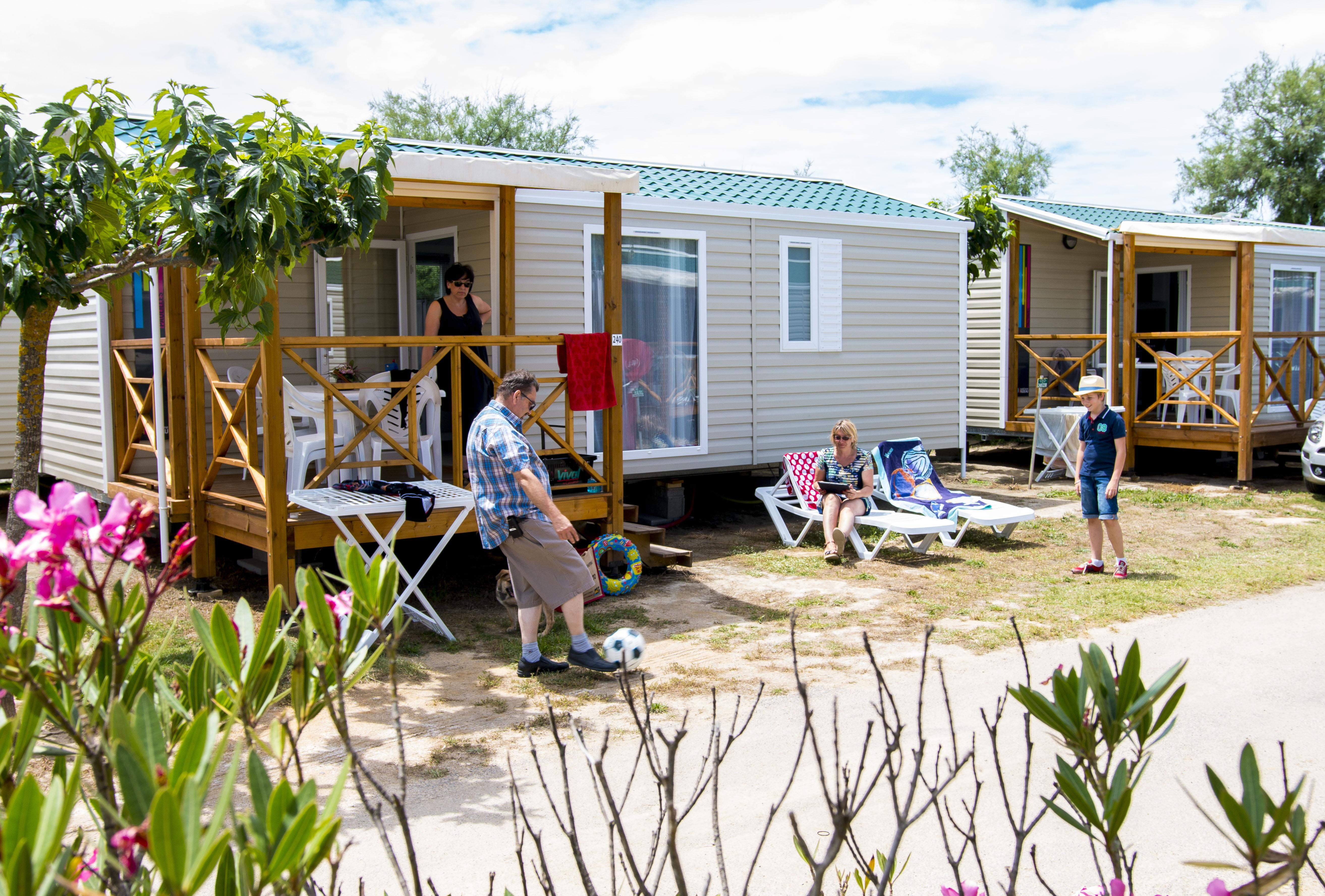 Location - Mobil-Home Paulilles - 2 Ch - Climatisé - Tv - Camping Cala Gogo