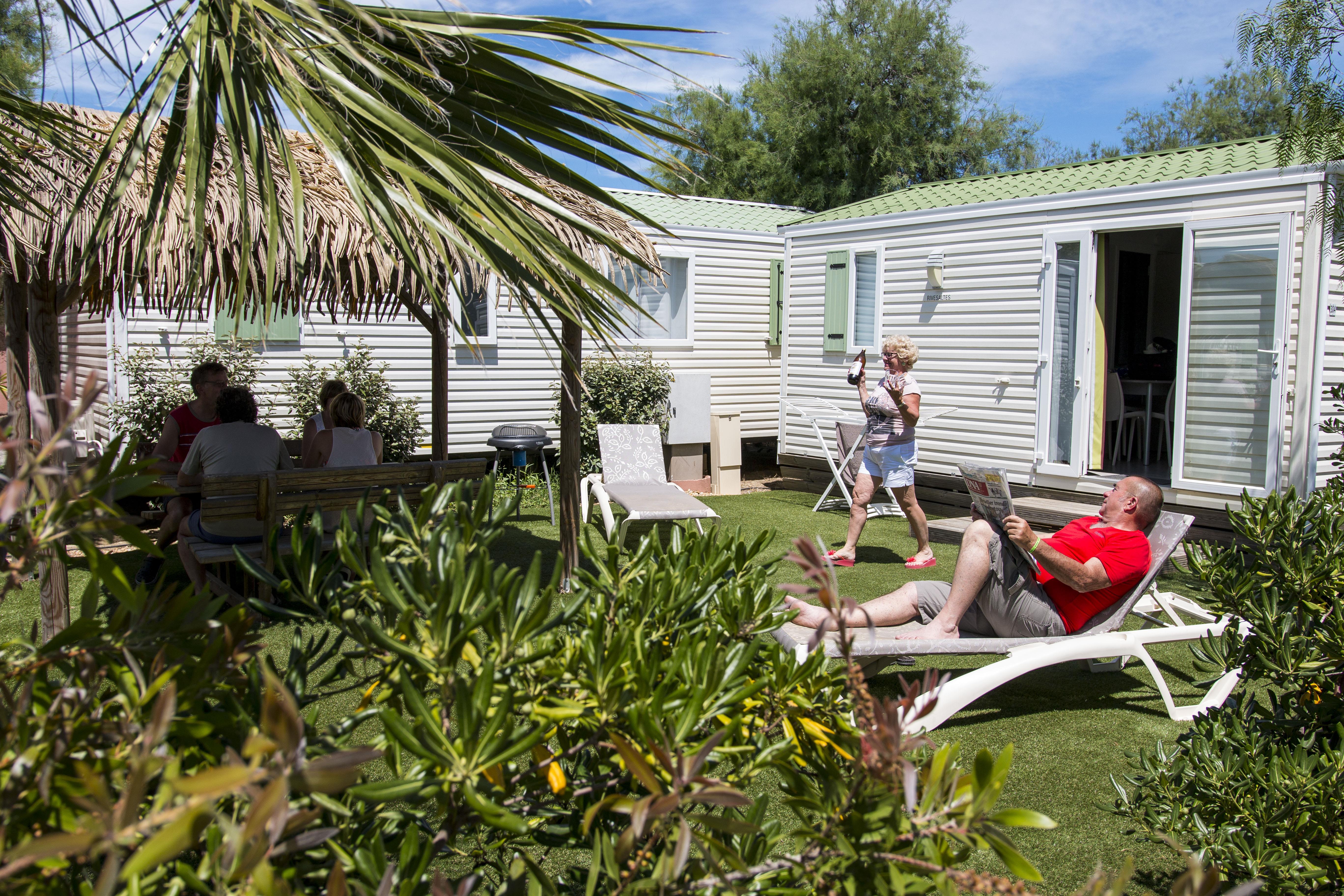 Location - Mobil-Home Rivesaltes - 1 Ch - Climatisé - Tv - Camping Cala Gogo
