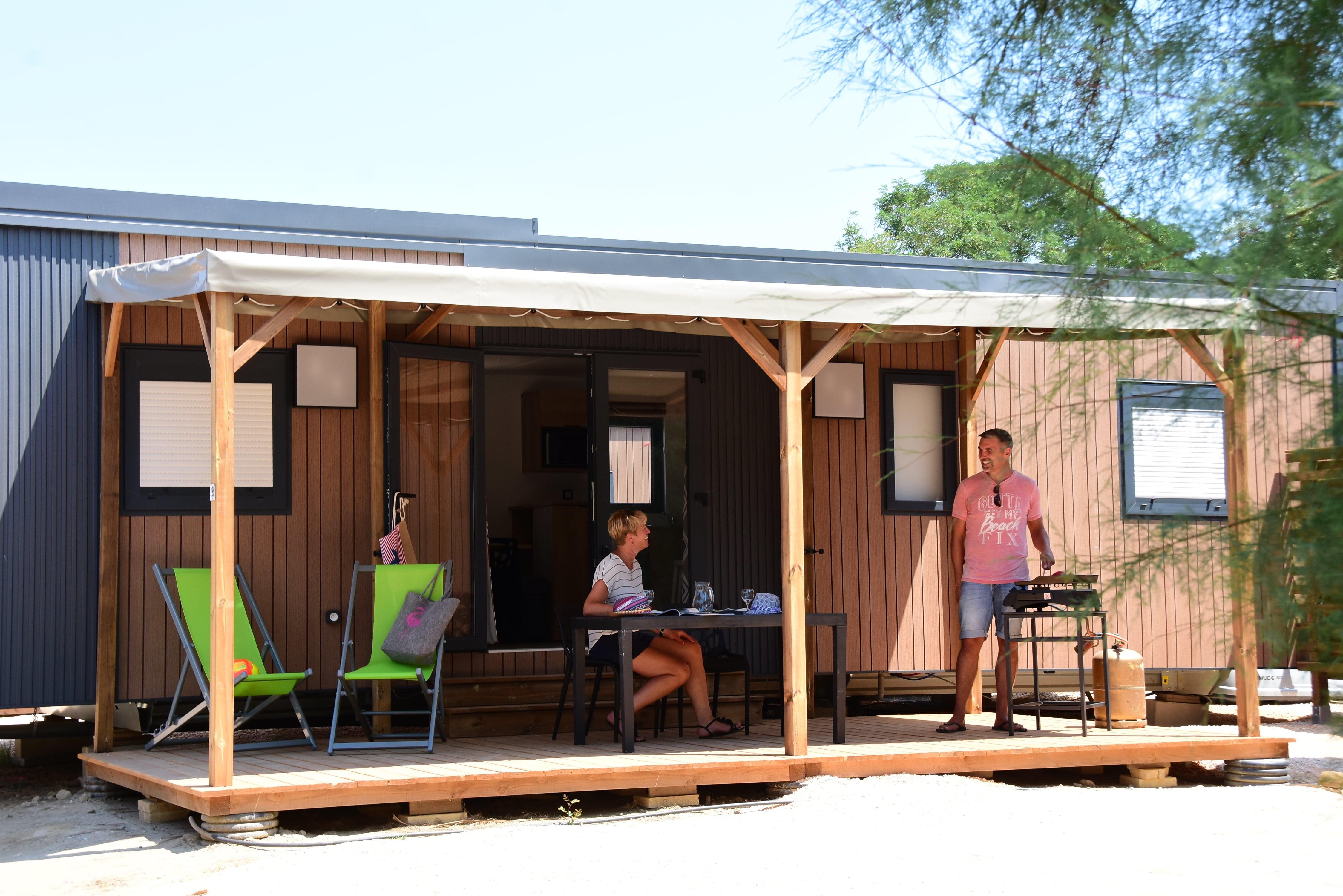 Location - Mobil-Home Muscat - 3 Ch - 2 Salles D'eau - Climatisé - Tv - Camping Cala Gogo