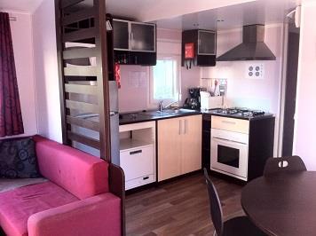 Location - Mobil-Home  Superieur Cycas 40 M² - 2 Chambres - Camping La Baume La Palmeraie