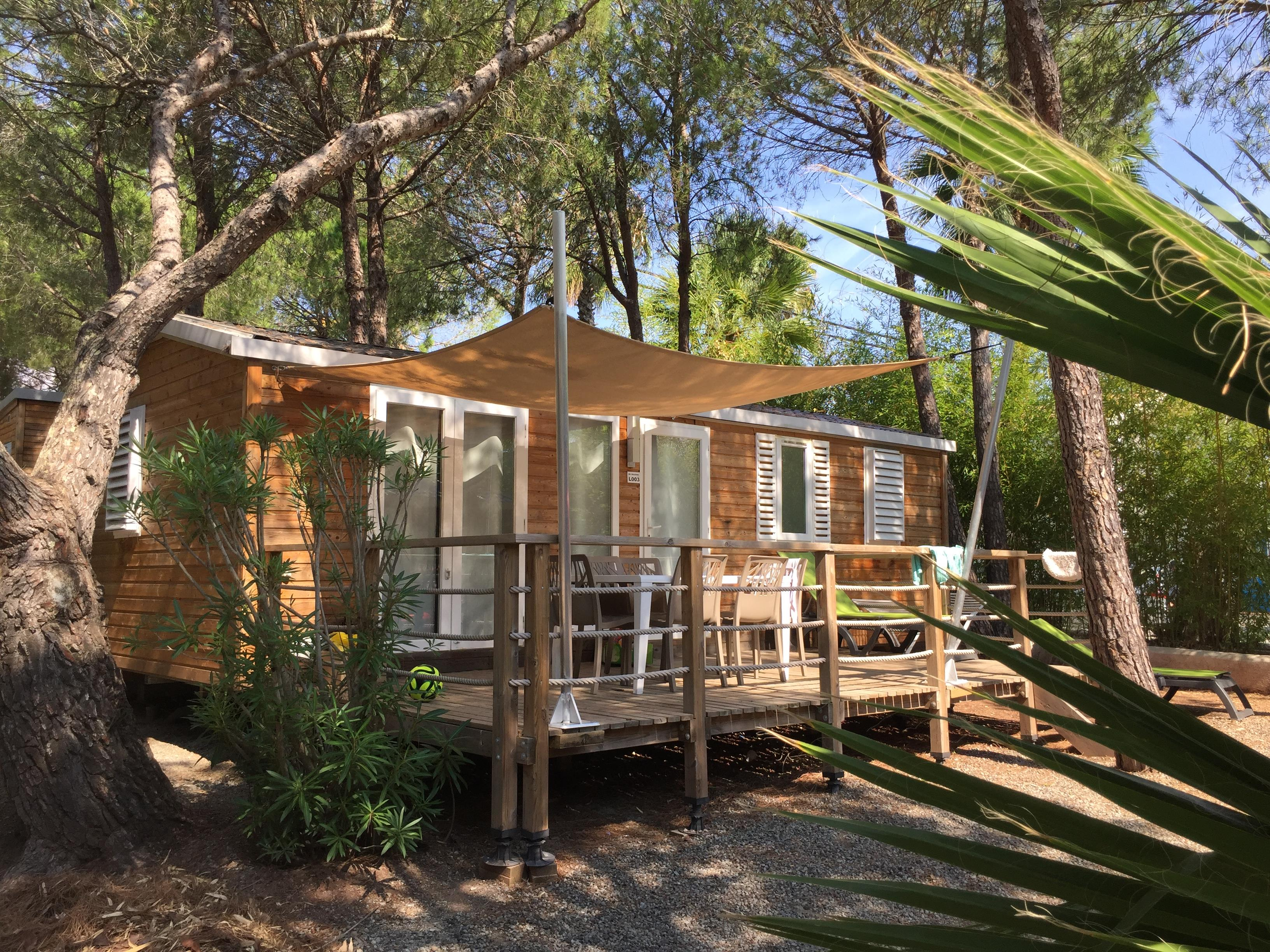 Location - Mobil-Home Superieur Dracena 32 M² - 3 Chambres - Camping La Baume La Palmeraie