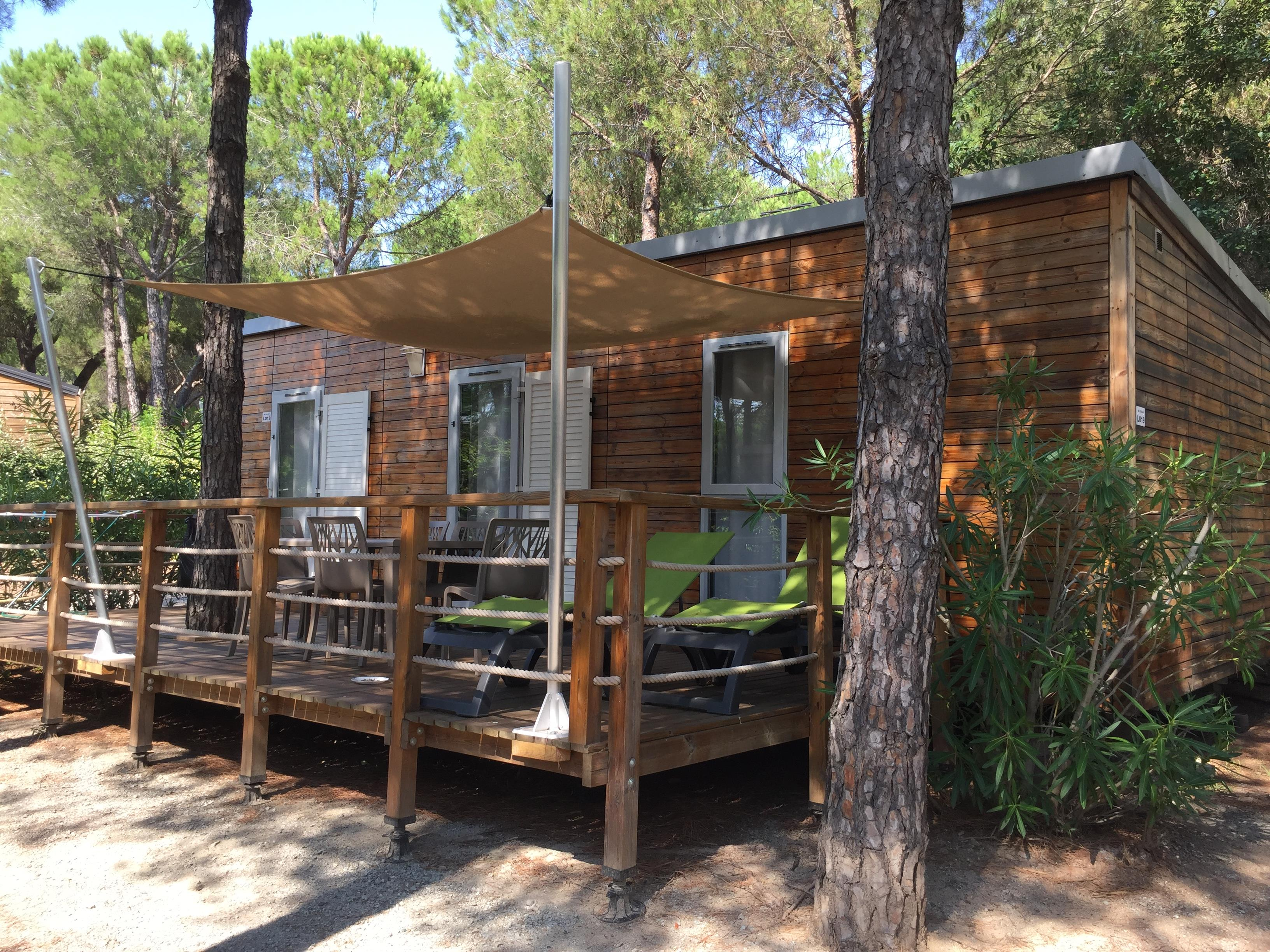 Location - Mobil-Home Premium Acacia  40 M² - 2 Chambres - Camping La Baume La Palmeraie