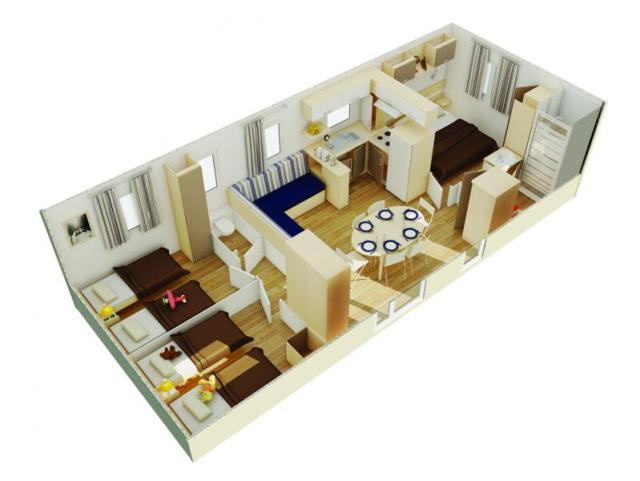 MOBIL-HOME STANDING FLORES 3 - 3 bedrooms 1/6 pers.?q=100