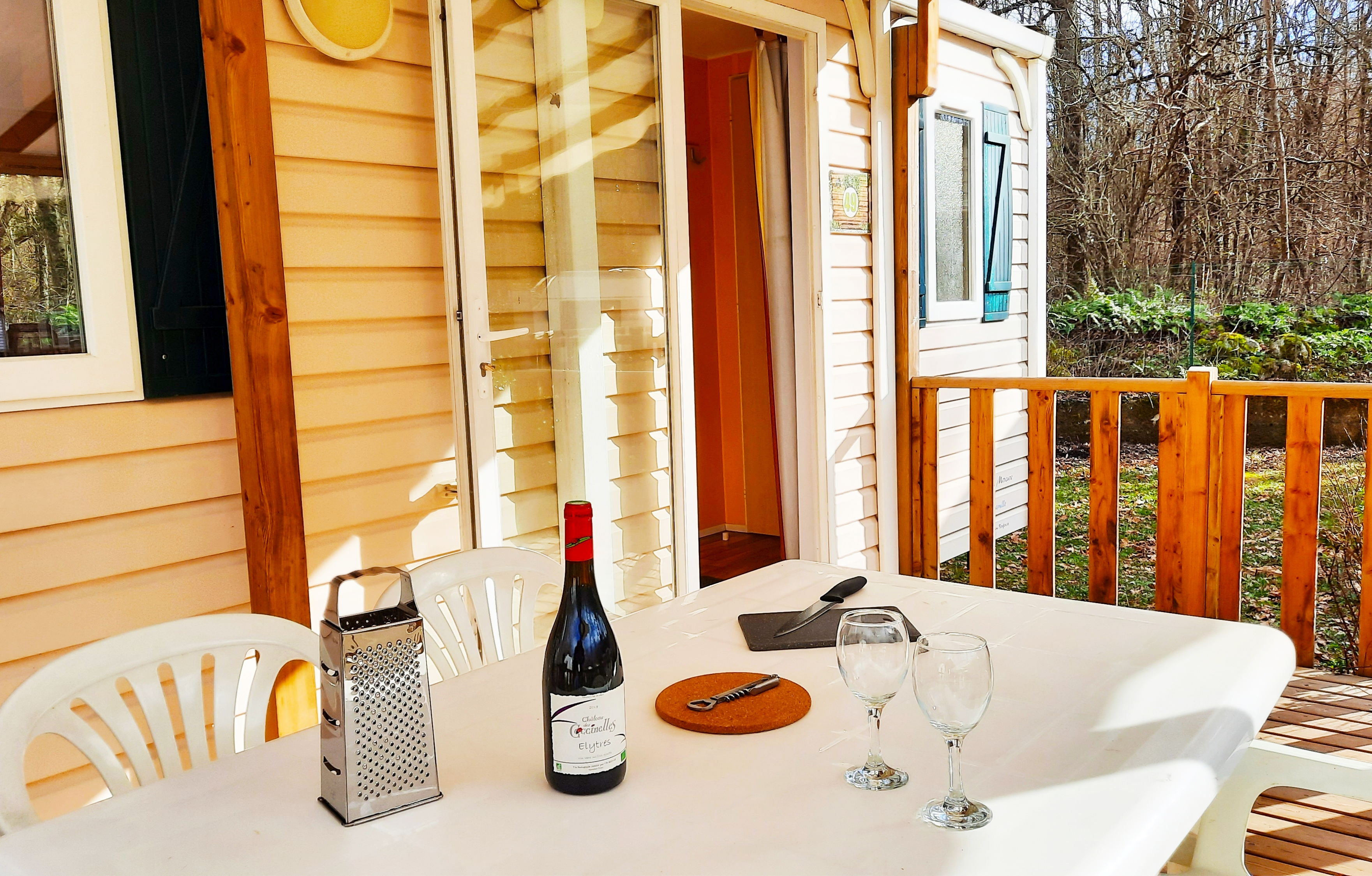 Location - Cottage Confort 4/5 Pers 2 Chb 1 Sdb - Camping La Roucateille