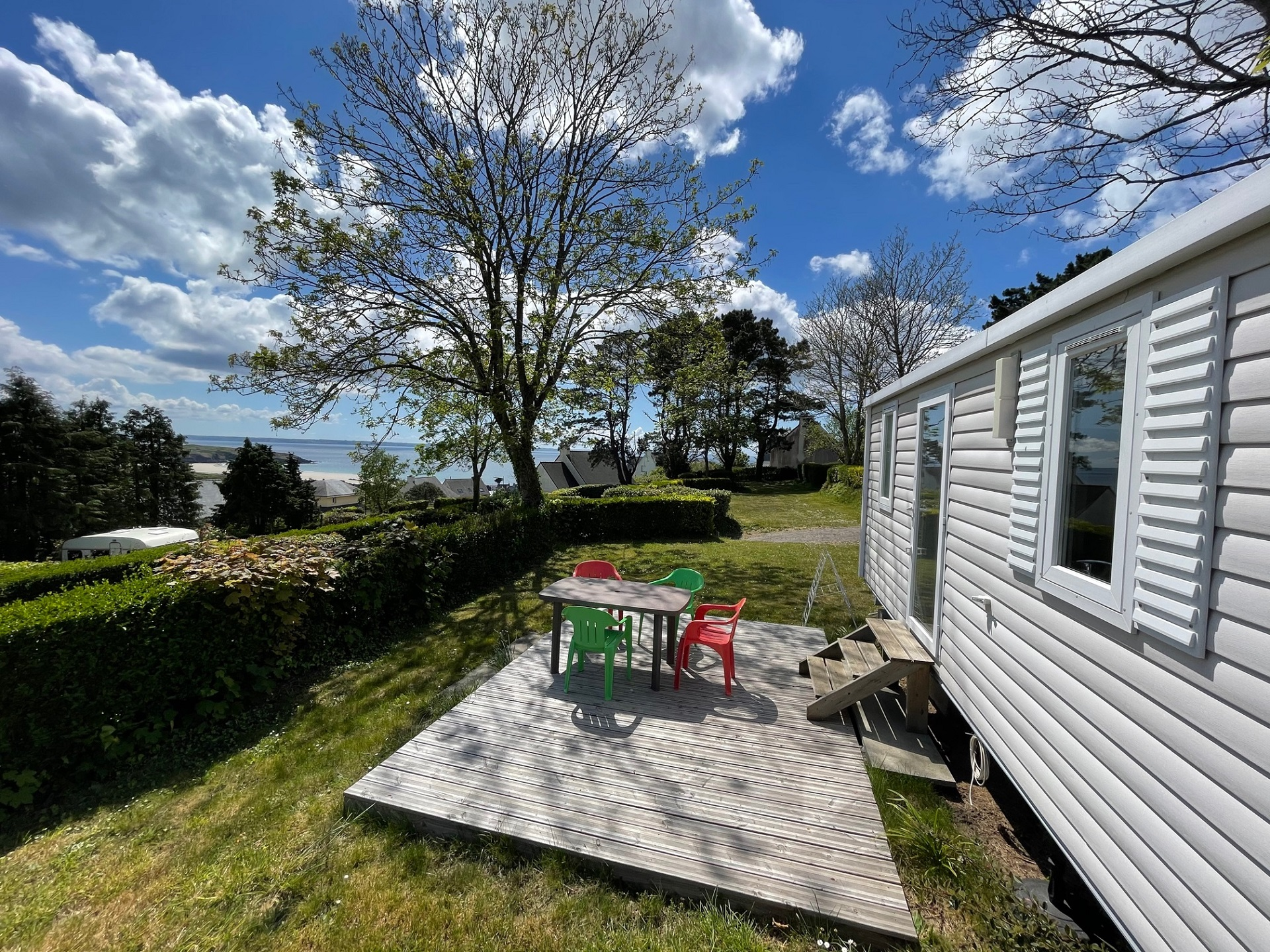 Location - M-Home Titania 22M² (2 Ch) Terrasse Vue Mer - Camping Sites et Paysages Le Panoramic
