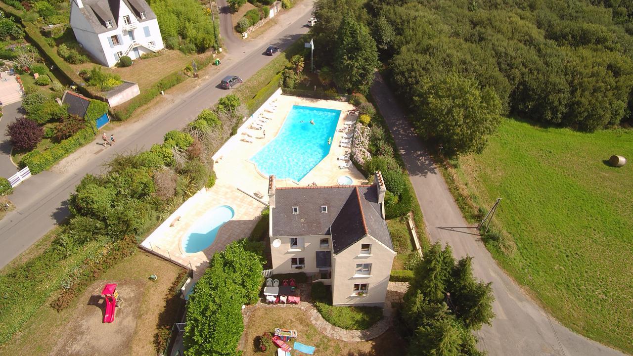 Location - Maison Avel Mor (4 Ch) Avec Piscine À 600M De La Plage - Camping Sites et Paysages Le Panoramic