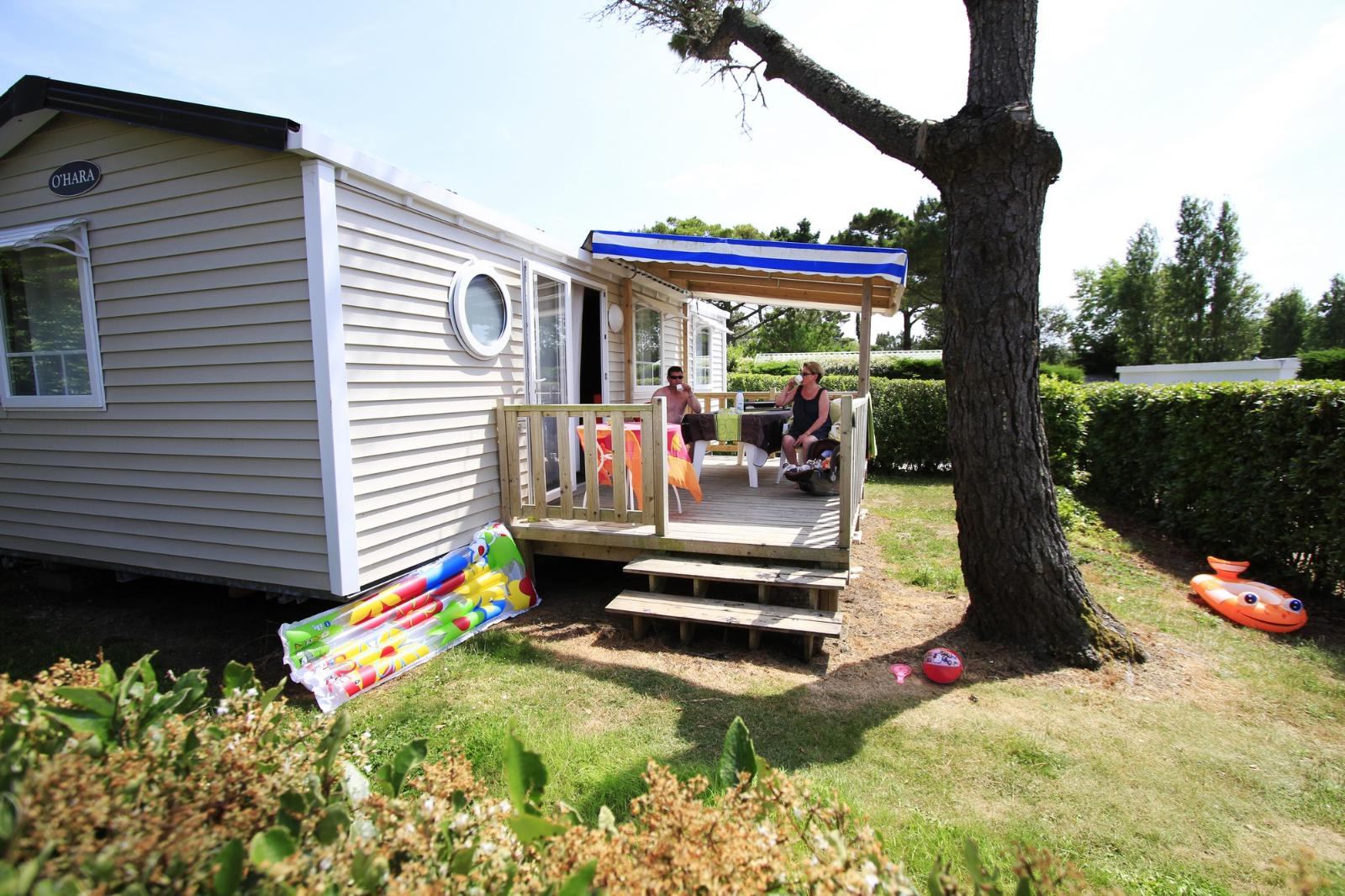 Location - Mobile-Home Family 6P. Avec Tv - 3 Chambres - 1 Salle De Bain - Camping Le Moténo
