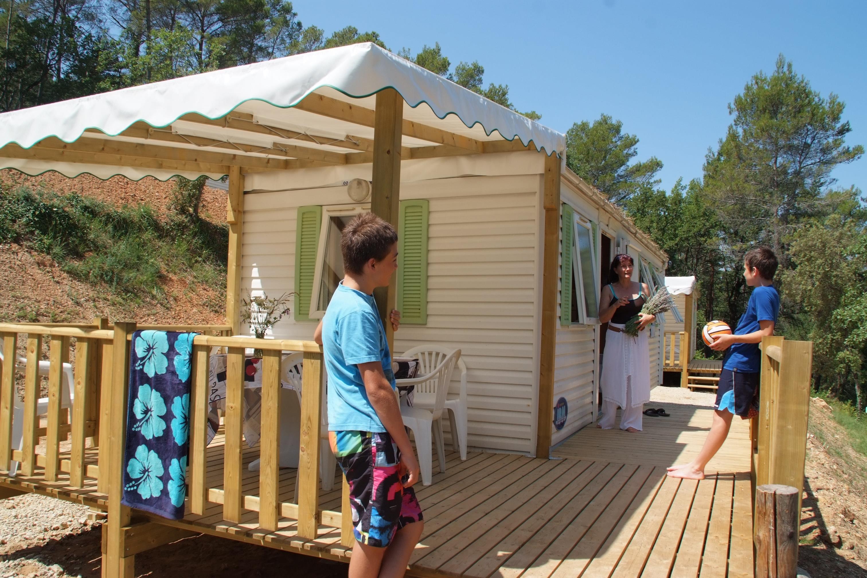 Location - Patio - 2 Chambres - 24M² - Relooké En 2020 - Avec Sanitaire Et Terrasse (10) - Camping Club Le Ruou