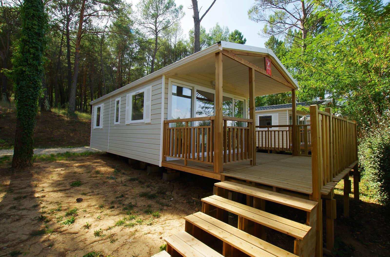 Location - Verdon - 2 Chambres - 24 M² - Année 2017 - Avec Sanitaire Et Terrasse 12M² (4) - Camping Club Le Ruou